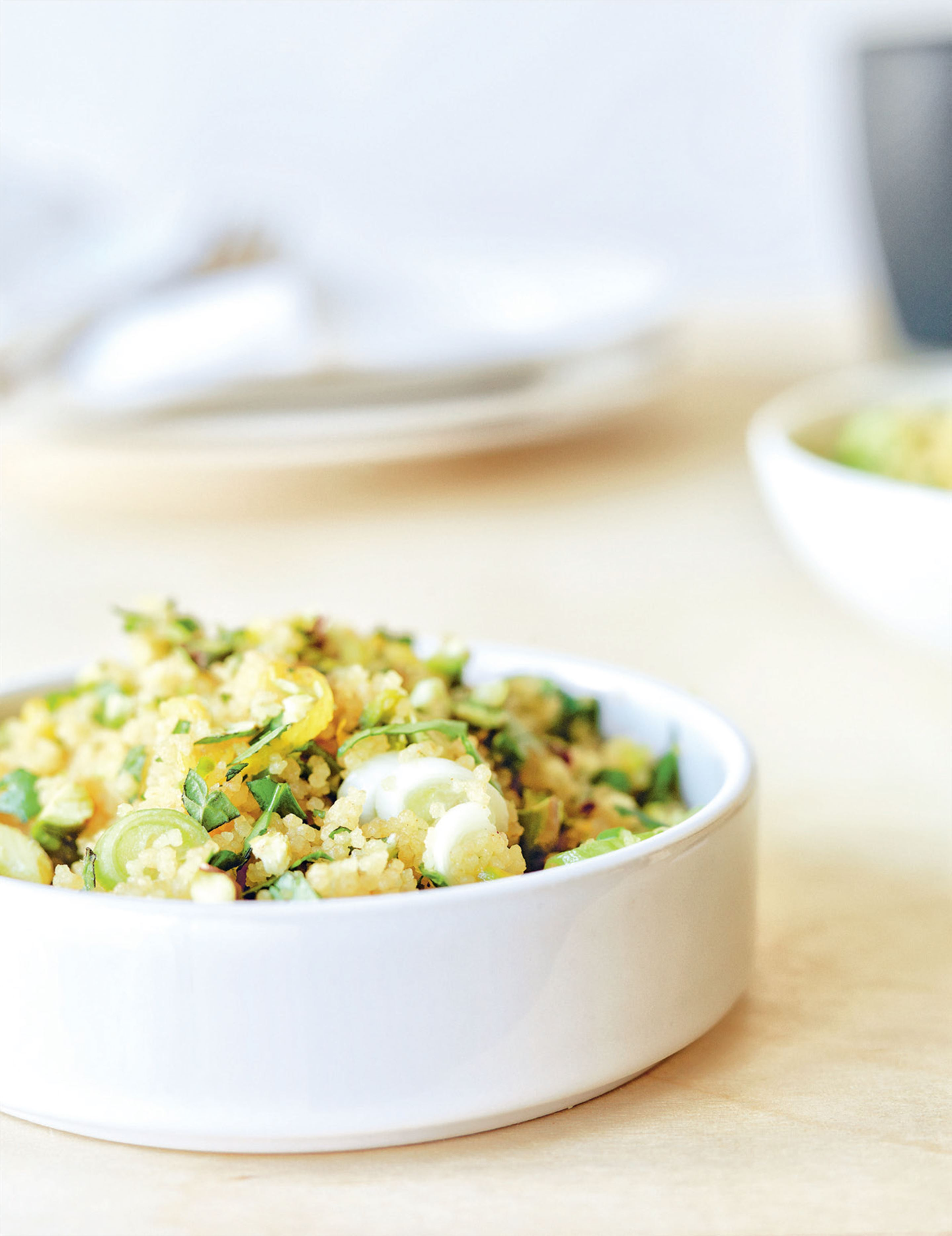 Spring couscous with herbs, lemon & pistachios