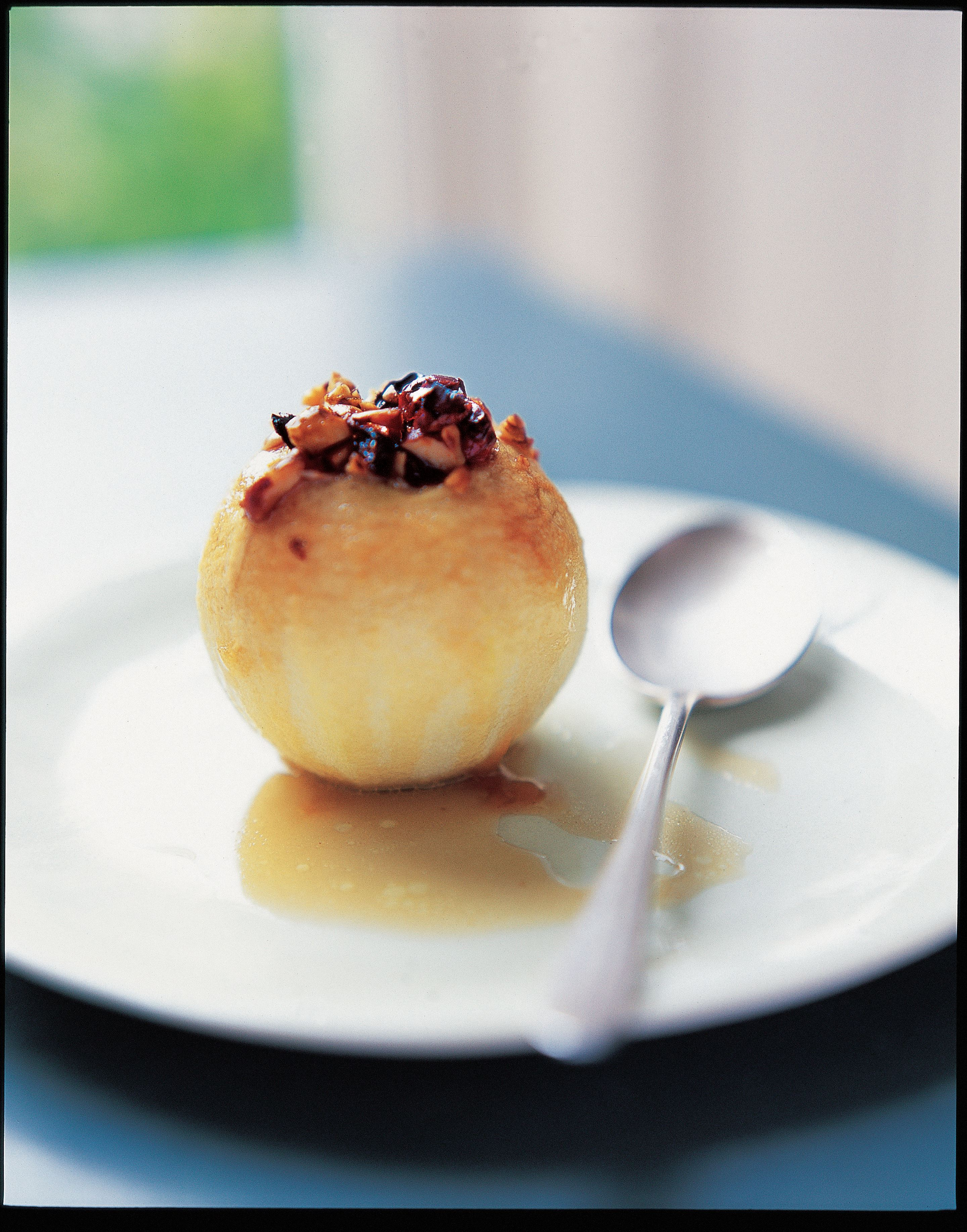 Baked spice-stuffed apples