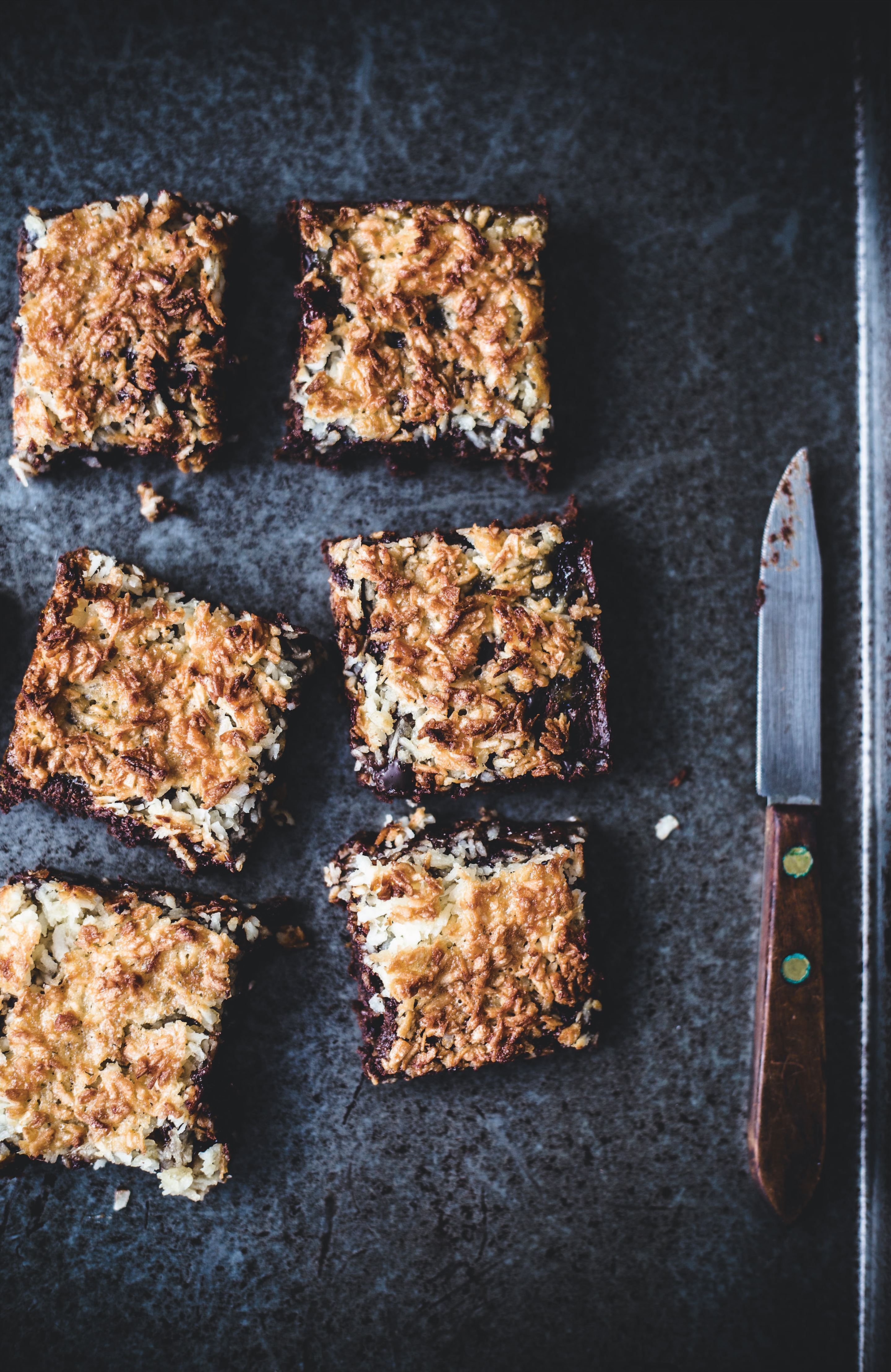 Coconut macaroon brownies