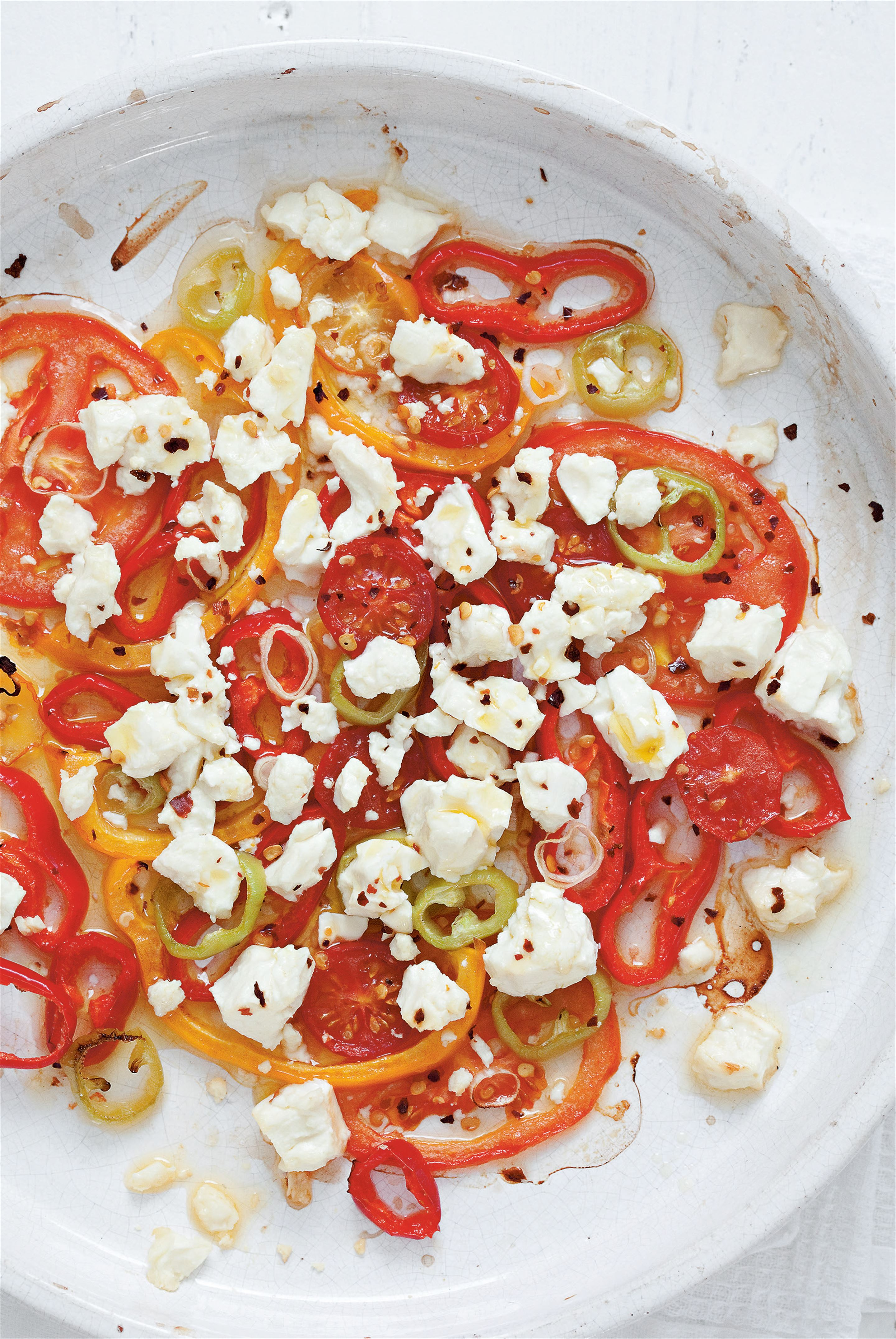 Feta baked in the oven