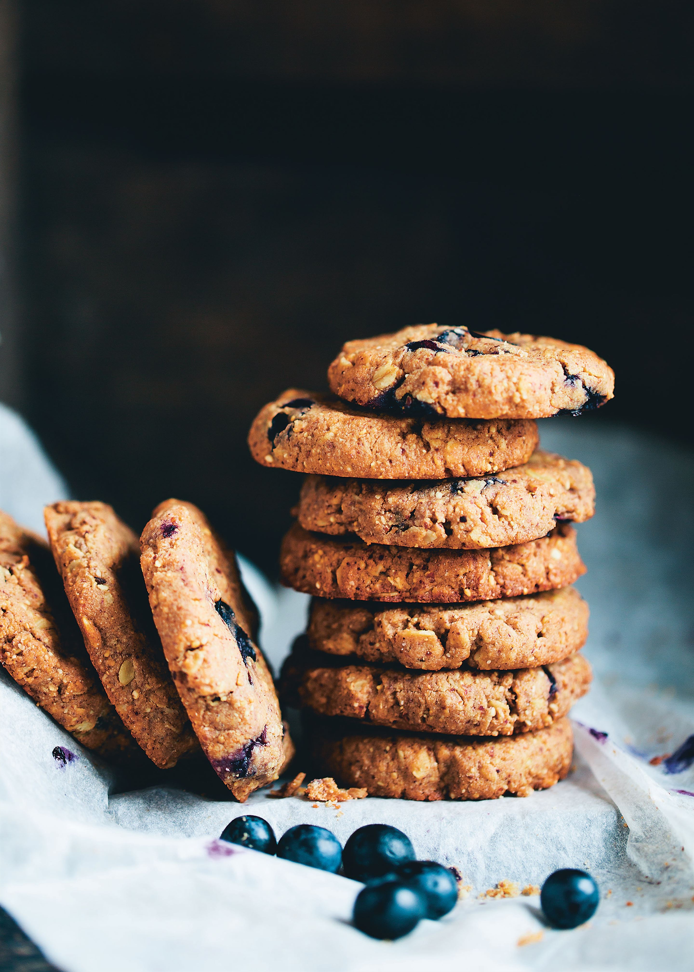 Almond butter blueberry cookies