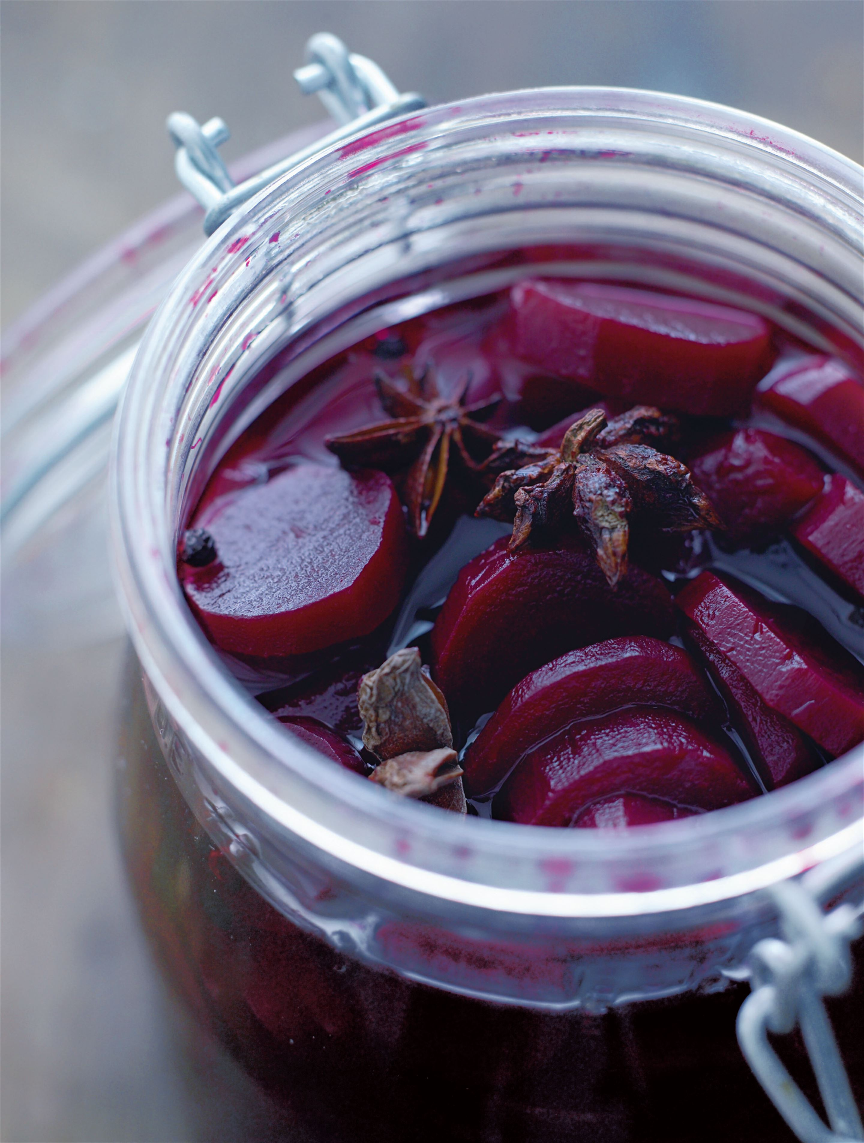 Pickled beetroot with star anise