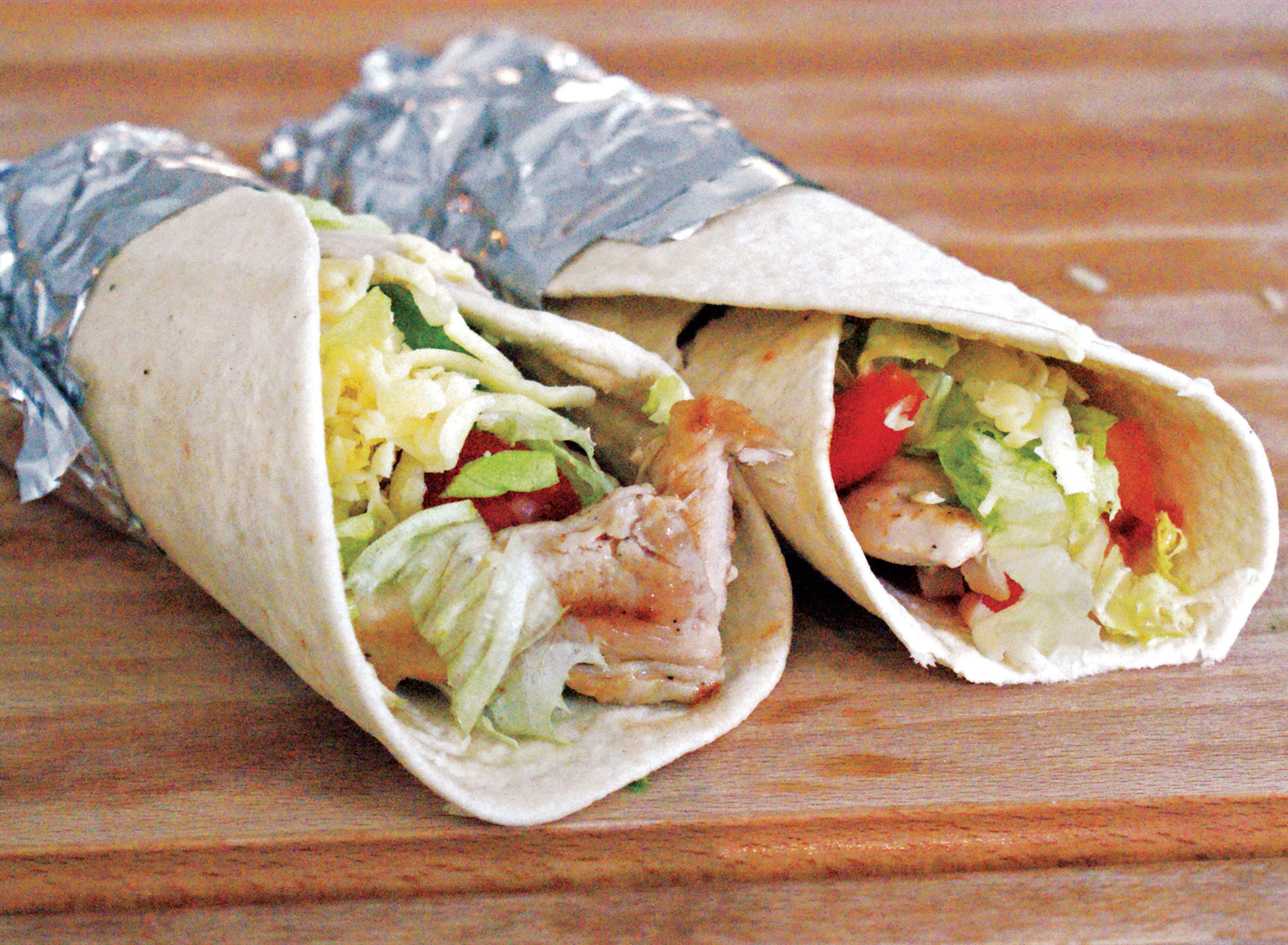 Chicken and tomato salsa wrap