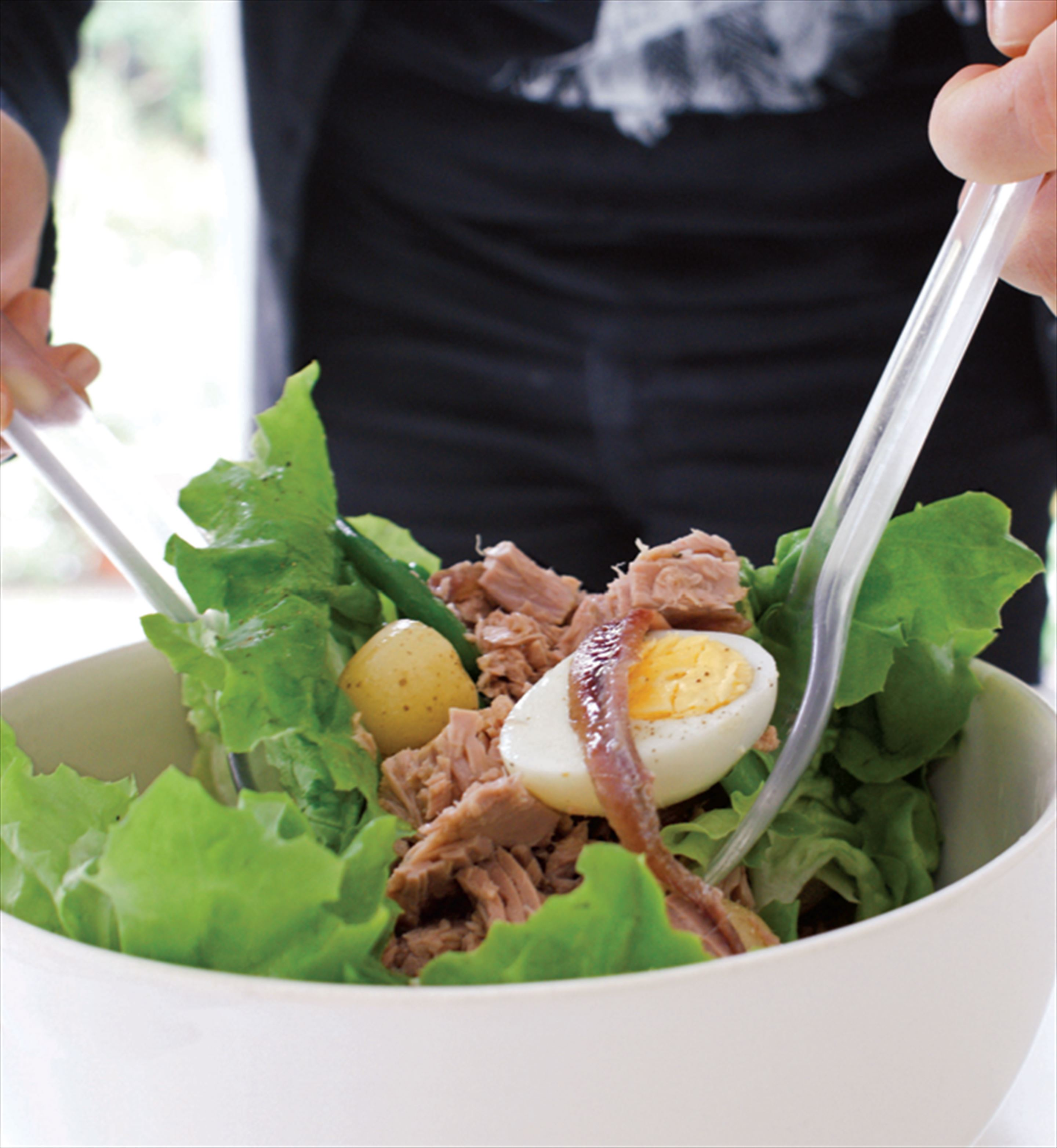 Warm salad niçoise