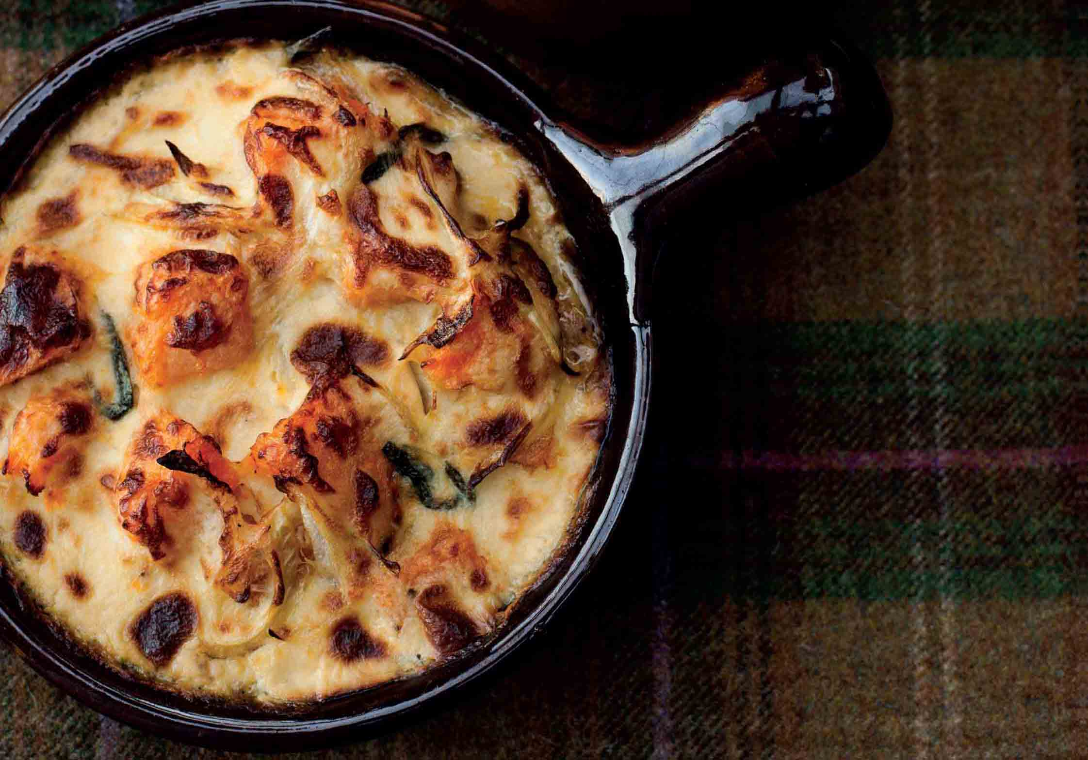 Pumpkin and parmesan gratin