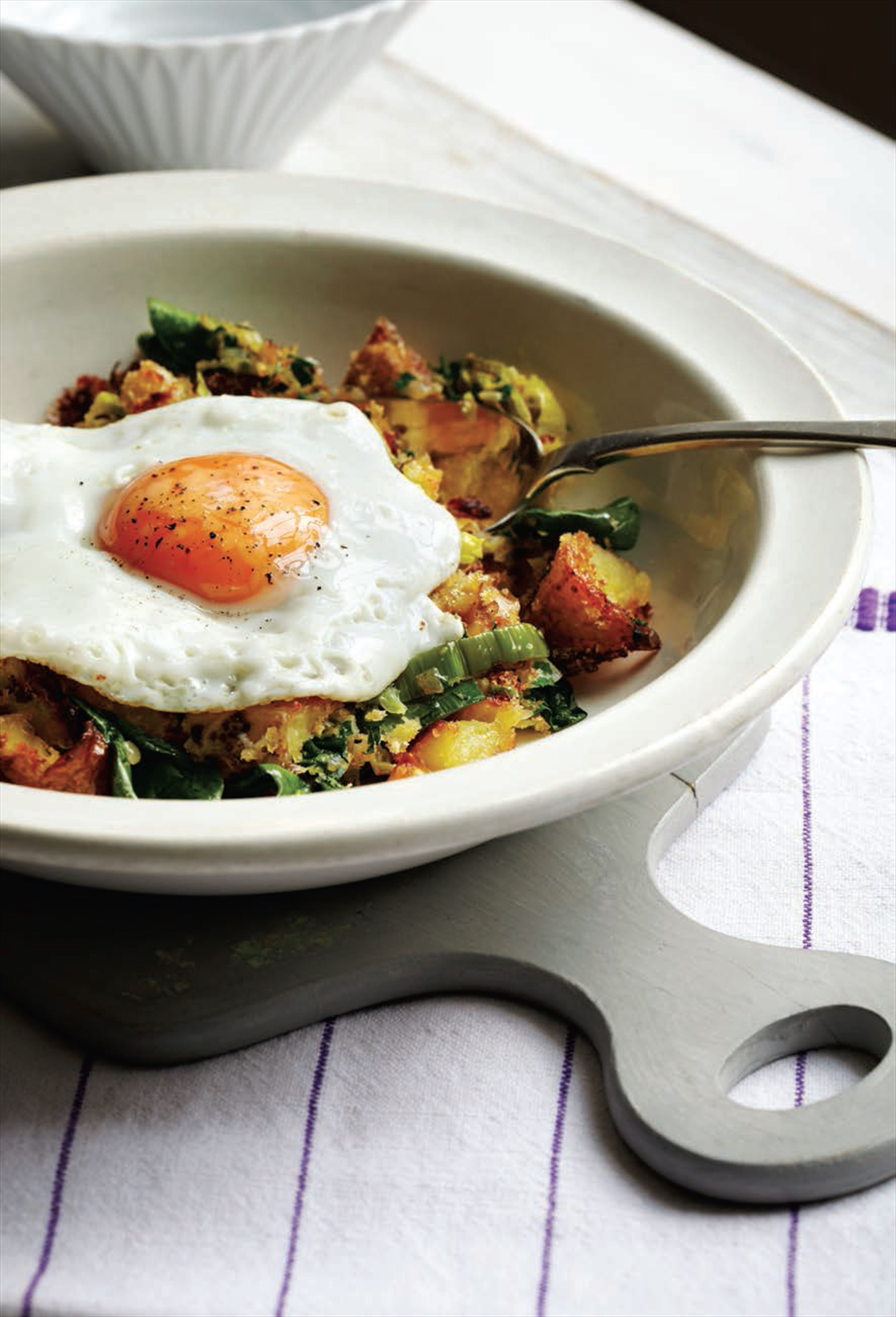 Crushed potato bubble and squeak
