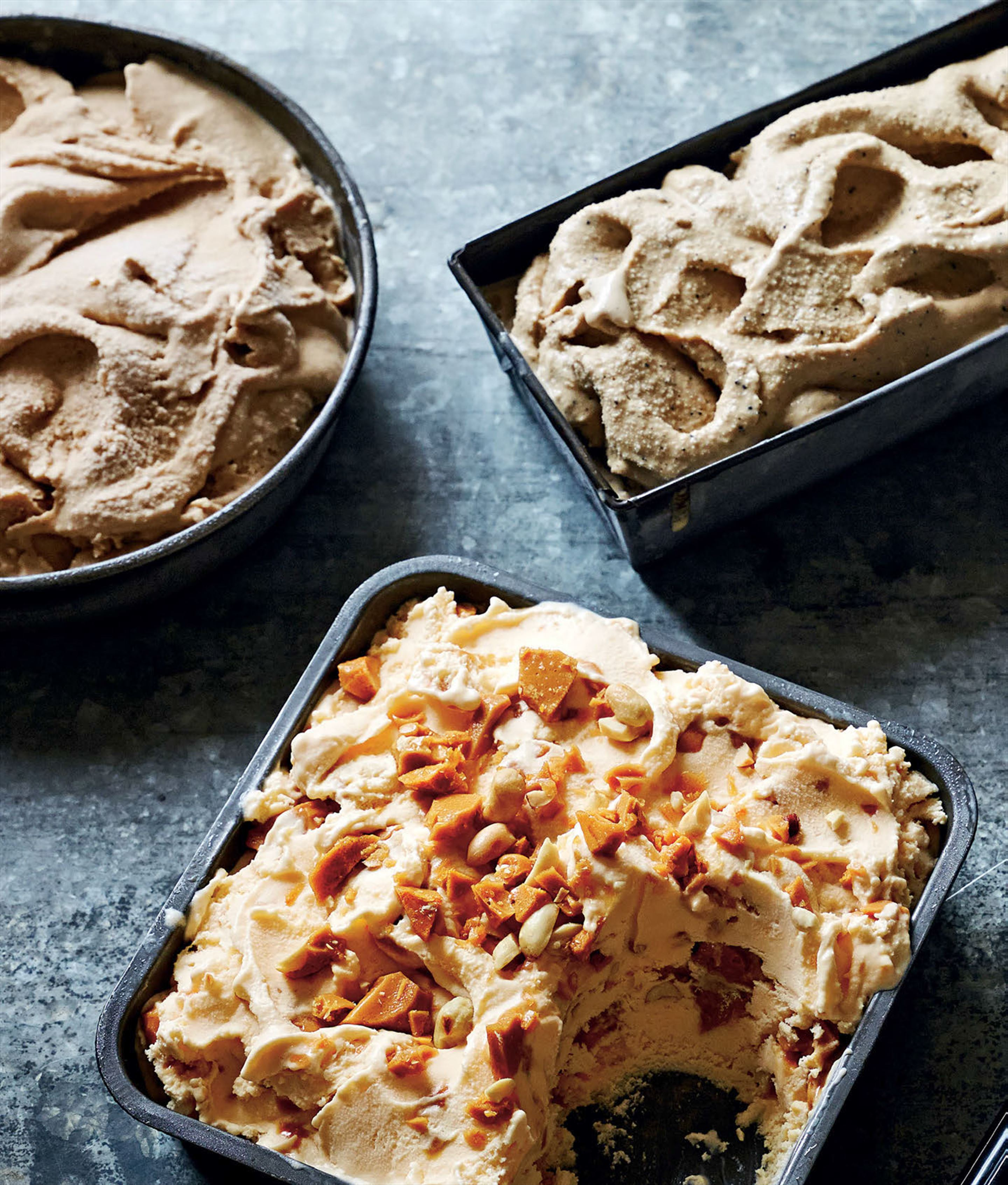 Peanut brittle ice cream