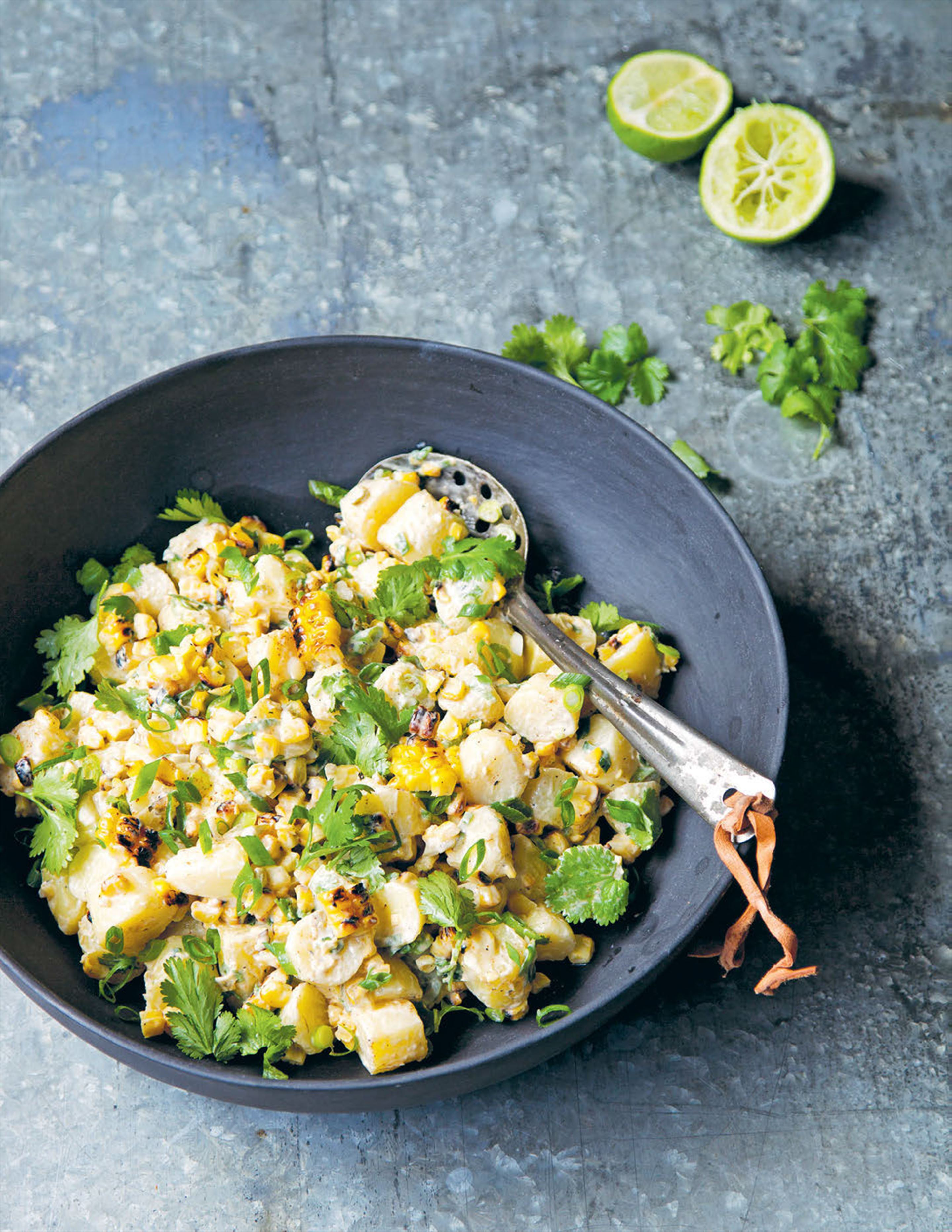 Fossie's charred corn and potato salad