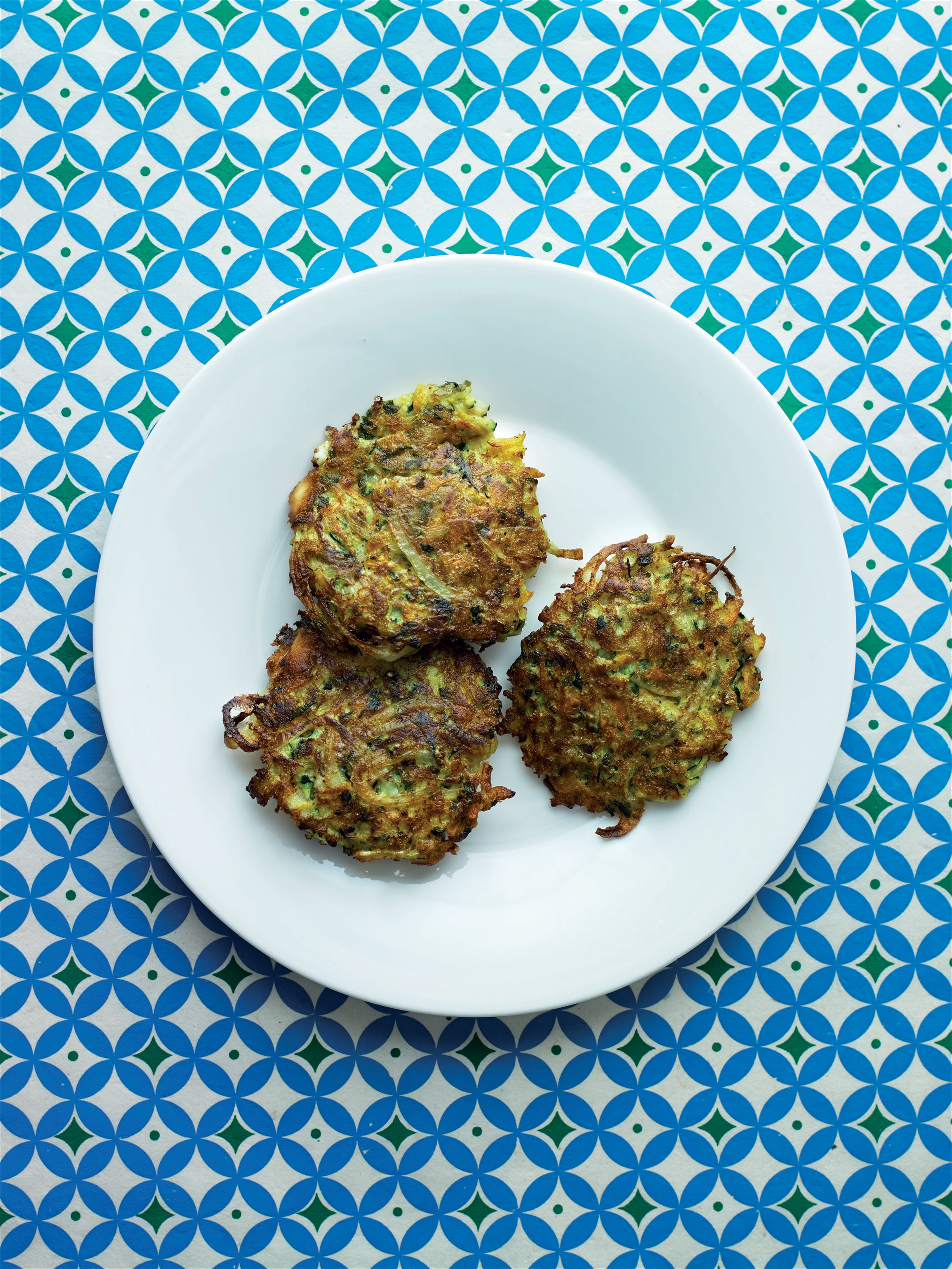Courgette, carrot and feta fritters