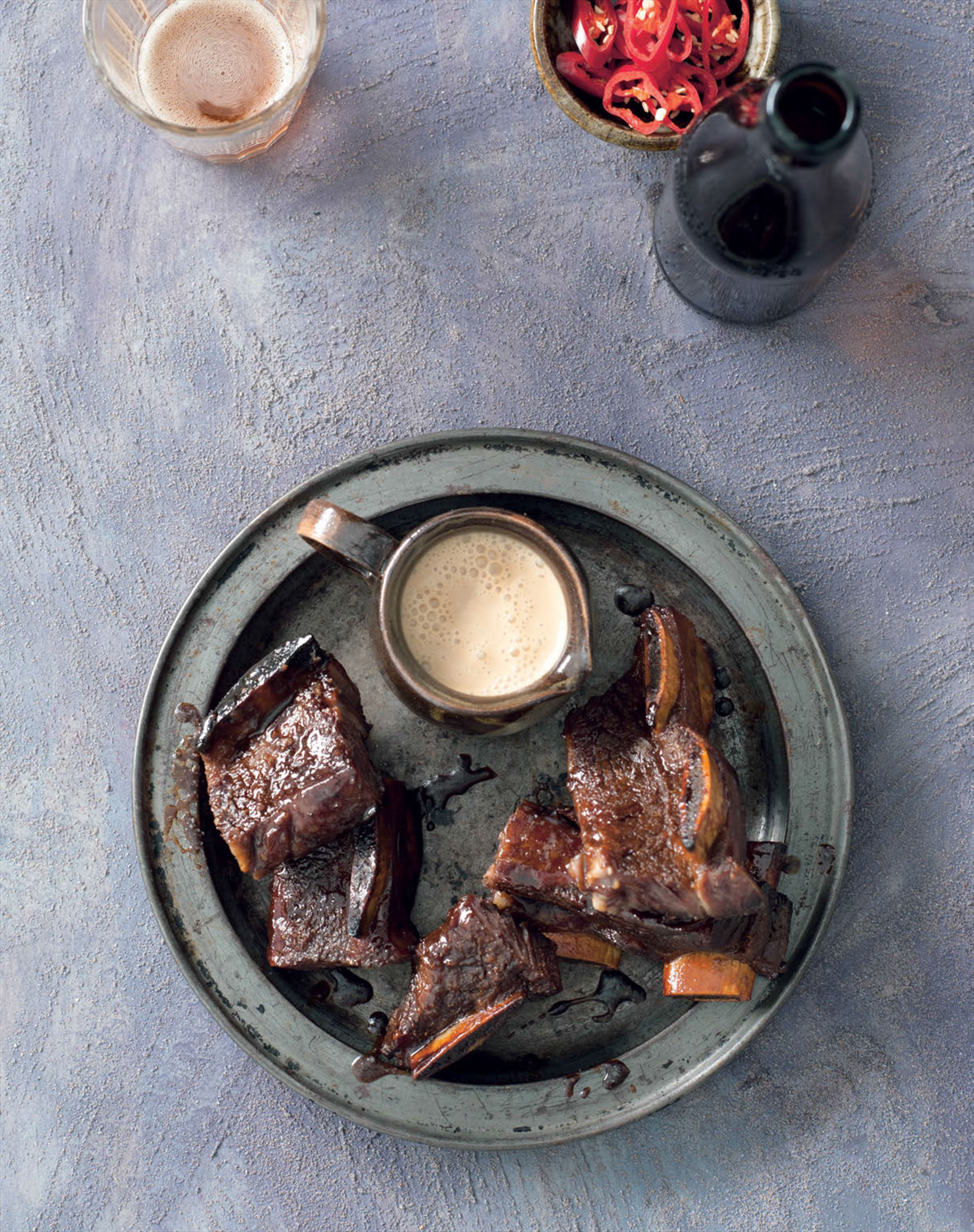 Coconut-glazed beef ribs