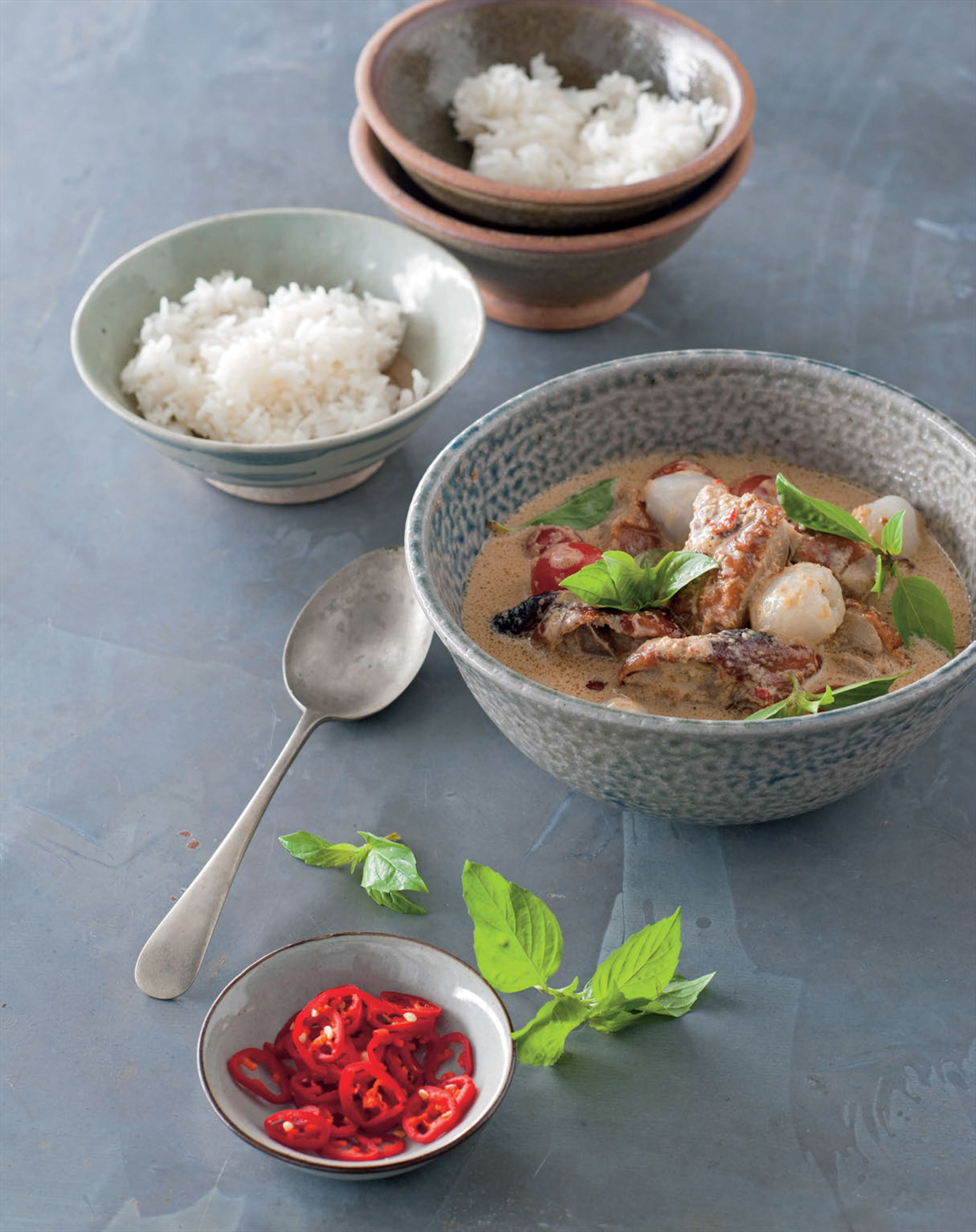 Red duck curry with lychees