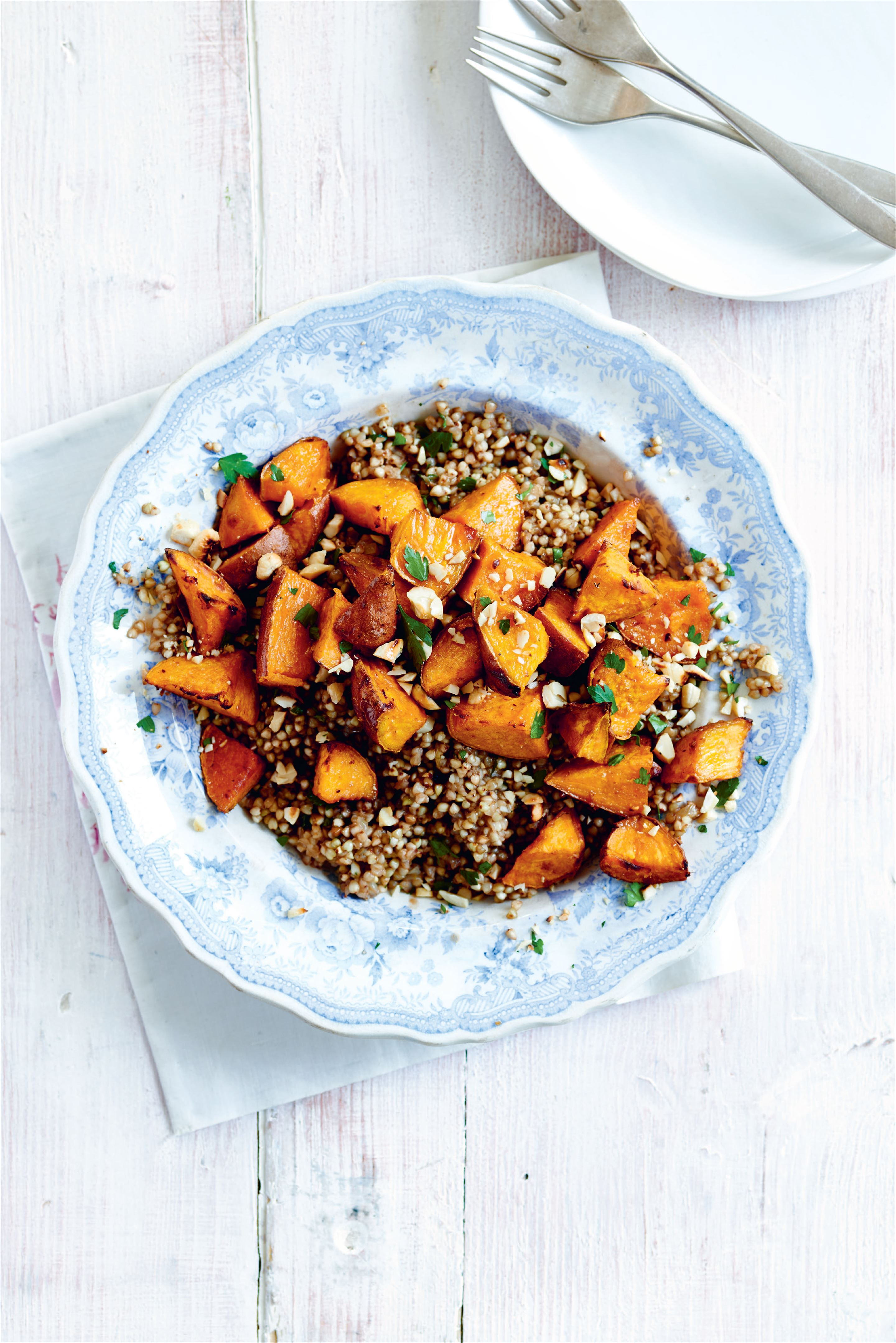 Buckwheat risotto with tamarind sweet potato