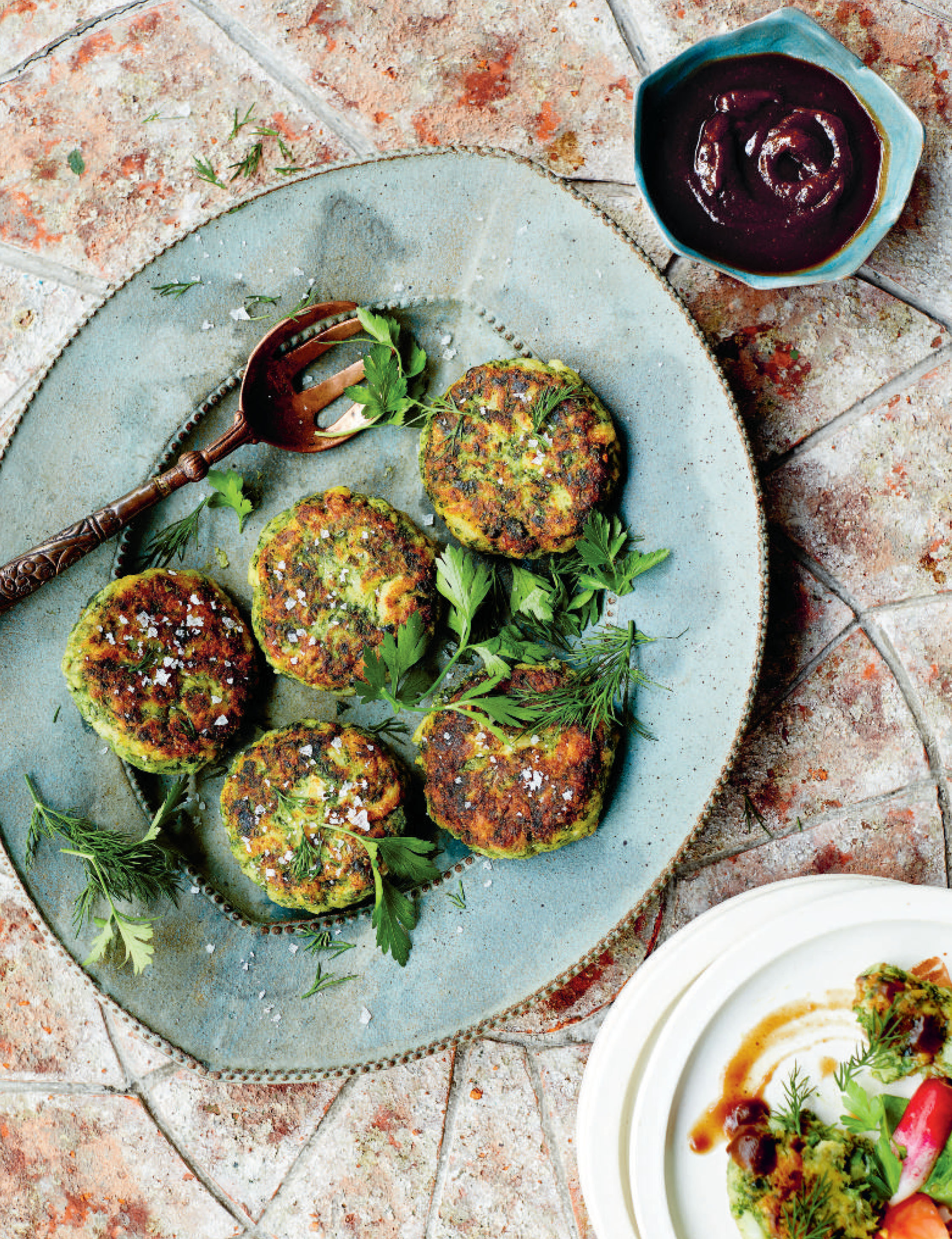Bandari fishcakes with a tamarind and date sauce