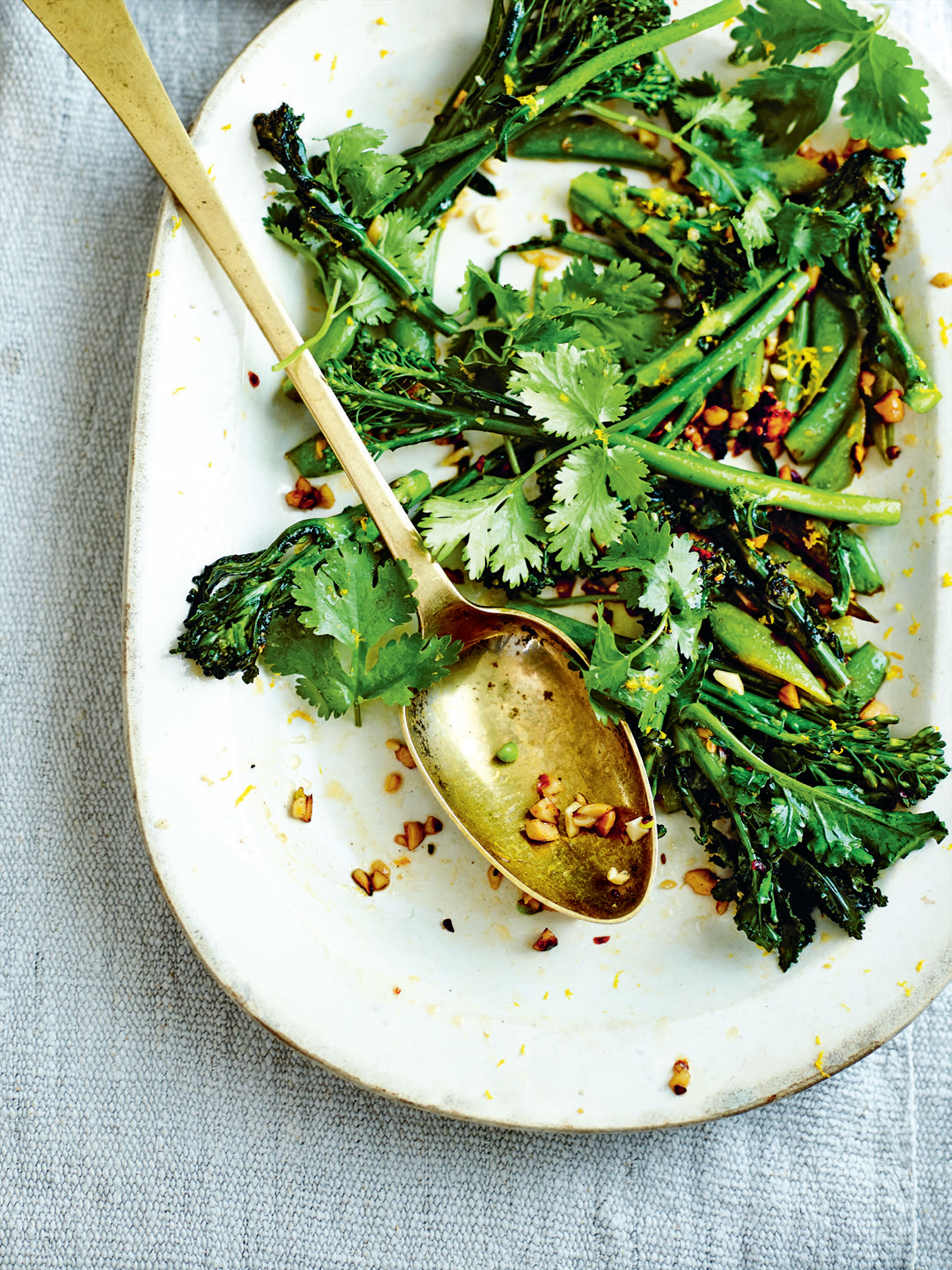 Tenderstem broccoli with orange and chilli