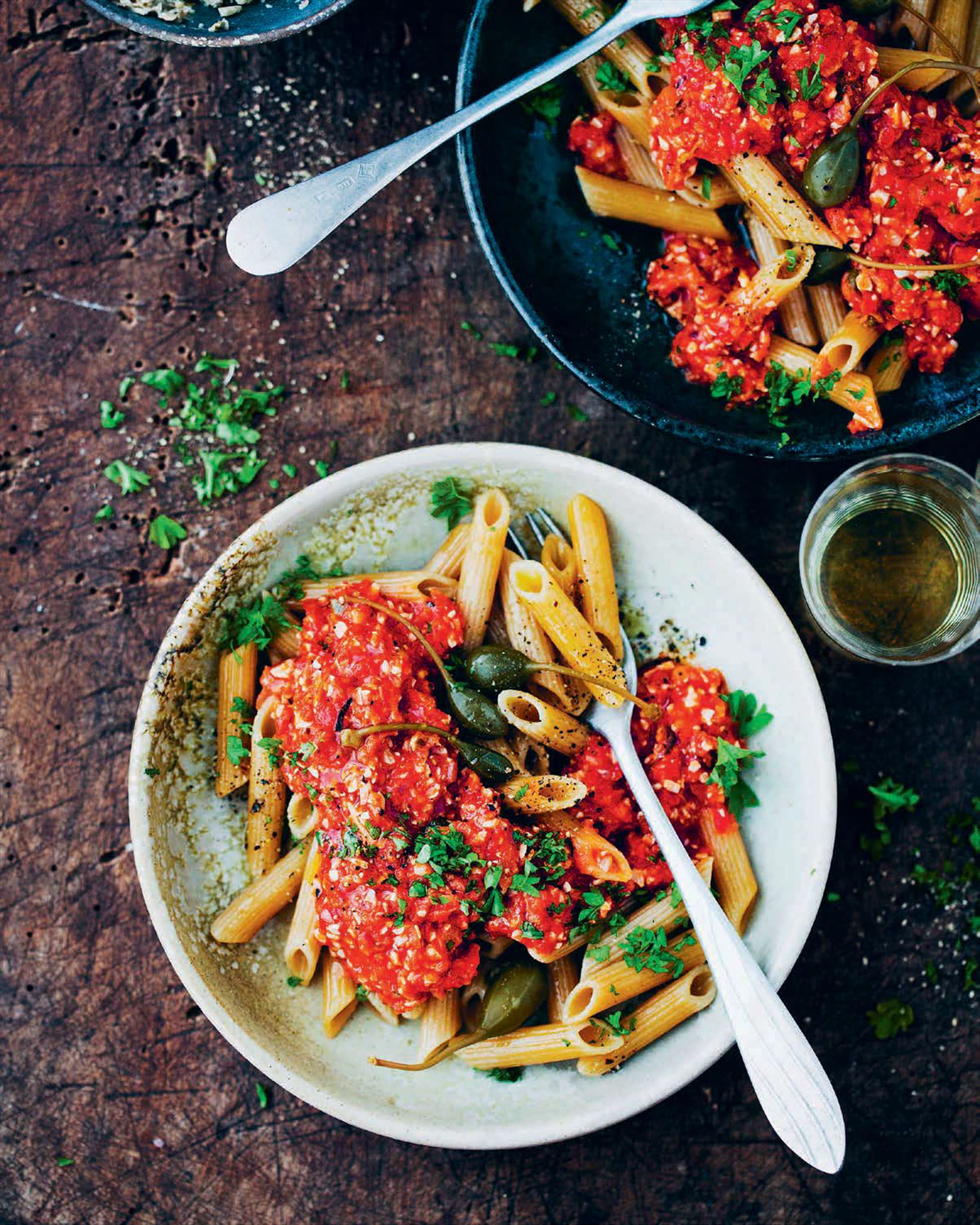 Penne al Pomodoro with Vegan 'Tuna'