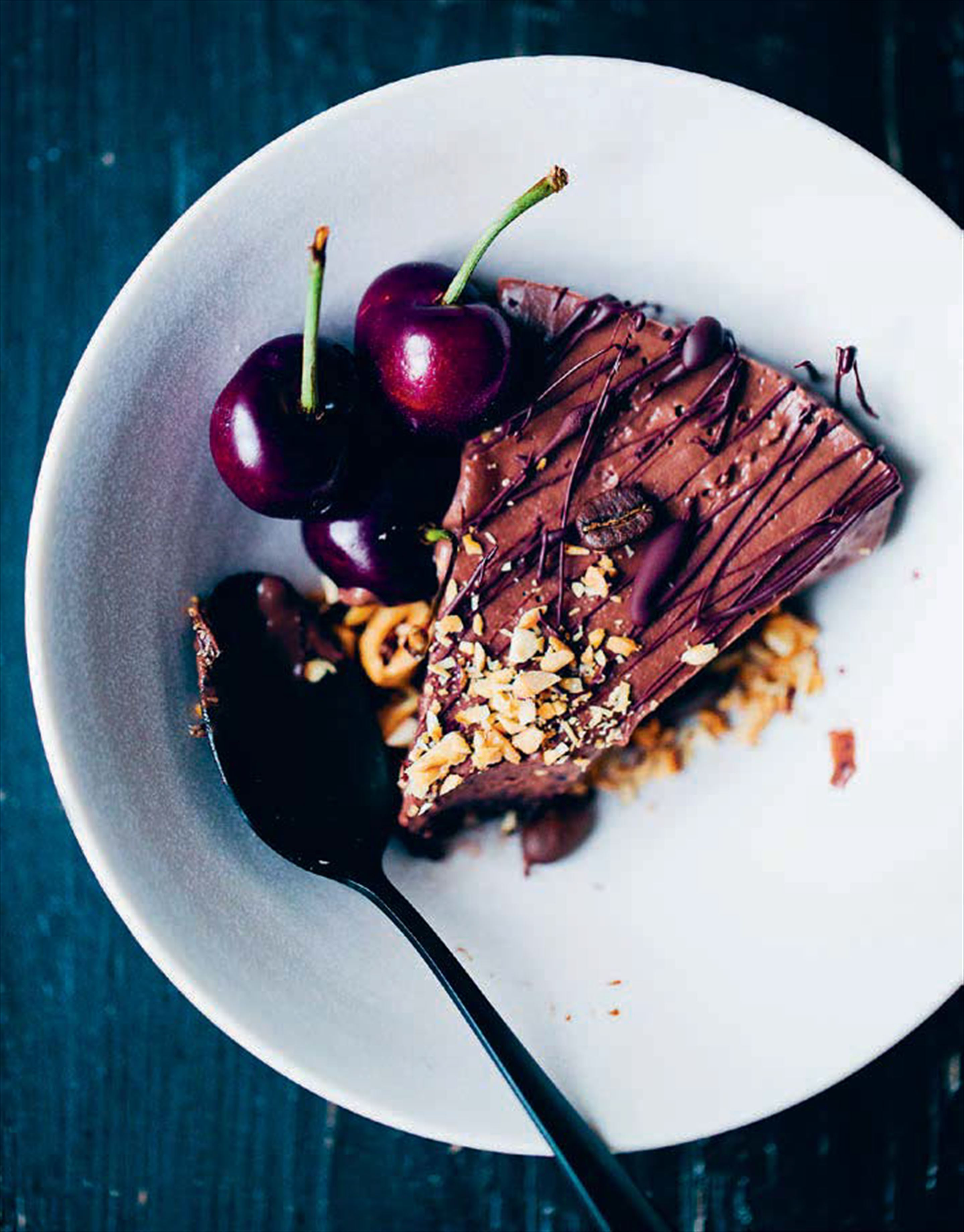 Black bean mocha mousse cake