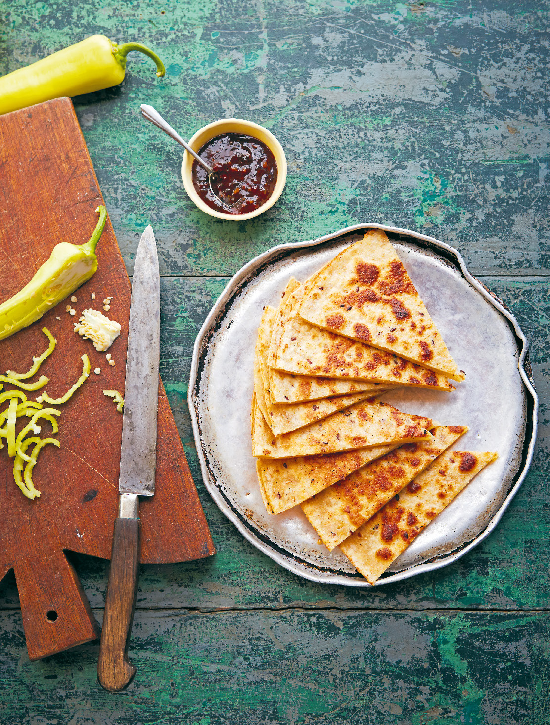 Double cheese quesadillas