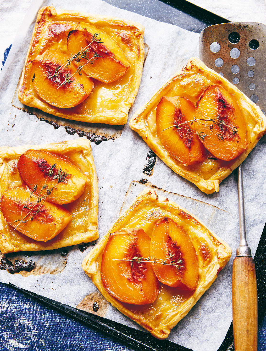 Peach tartlets