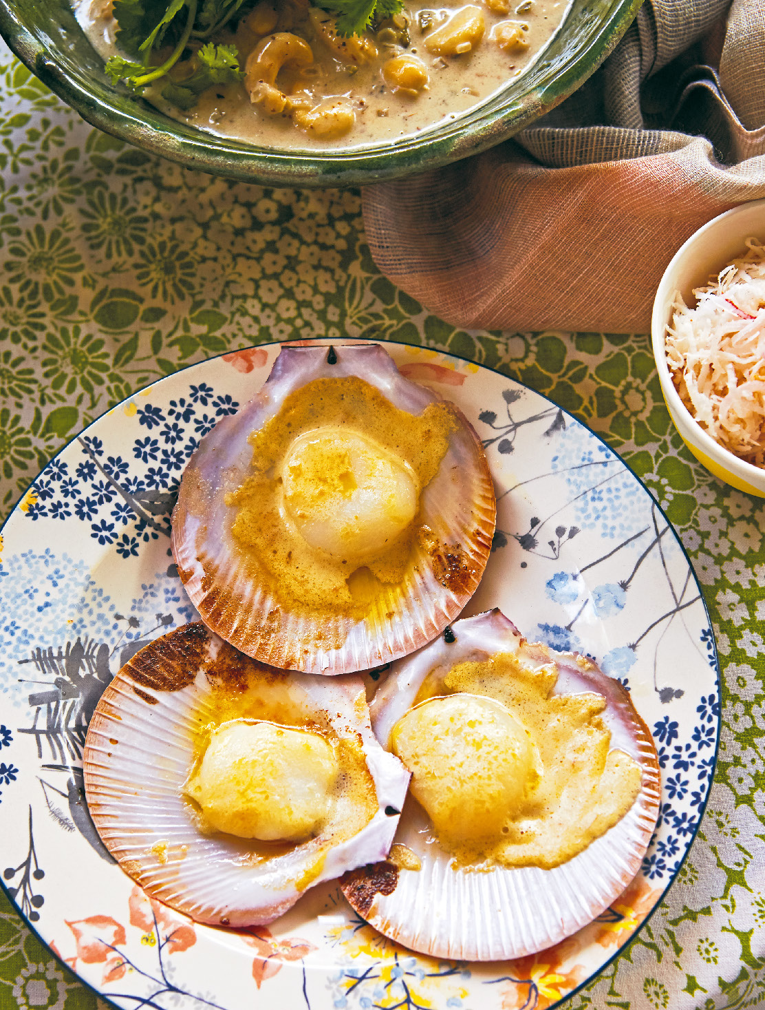 Scallops with miso butter