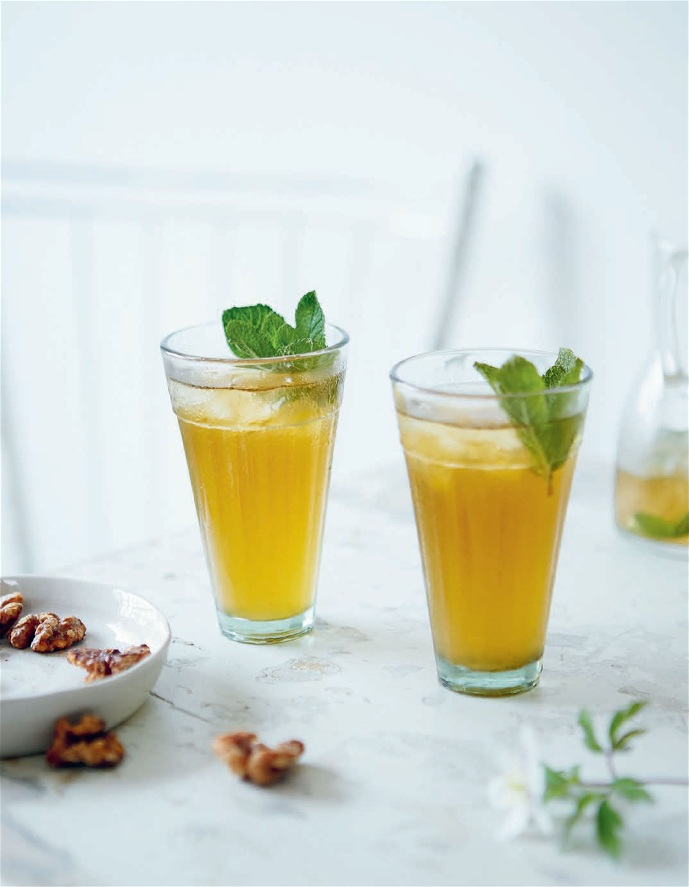 Swedish mint julep with aquavit