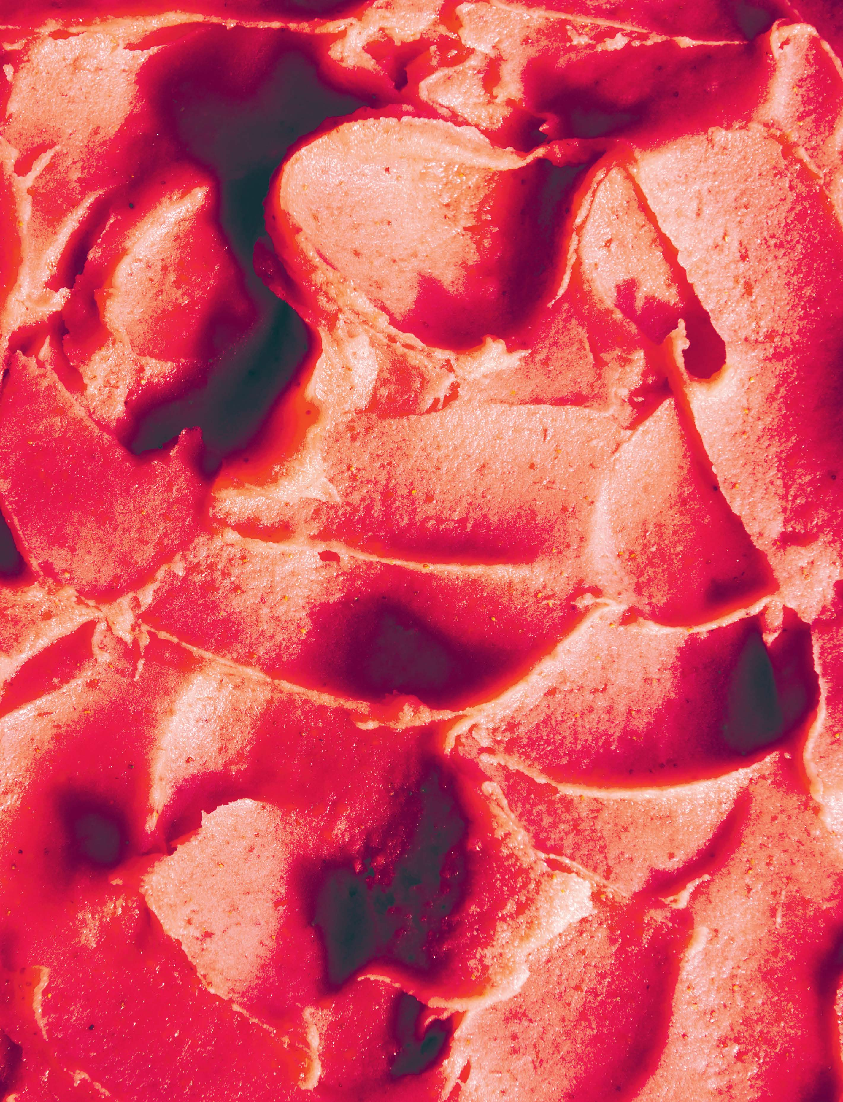 Strawberry sorbetto