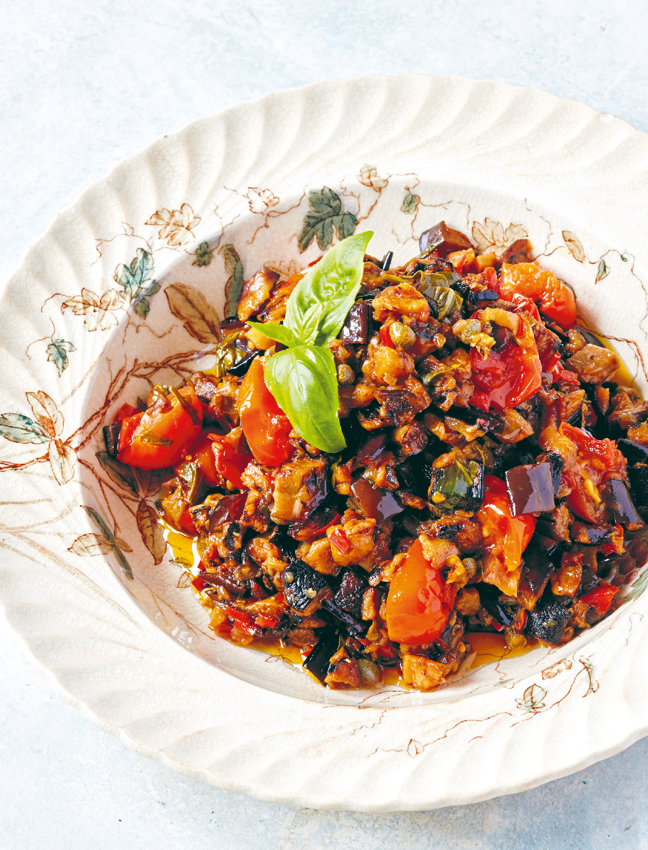Sweet and sour eggplant caponata