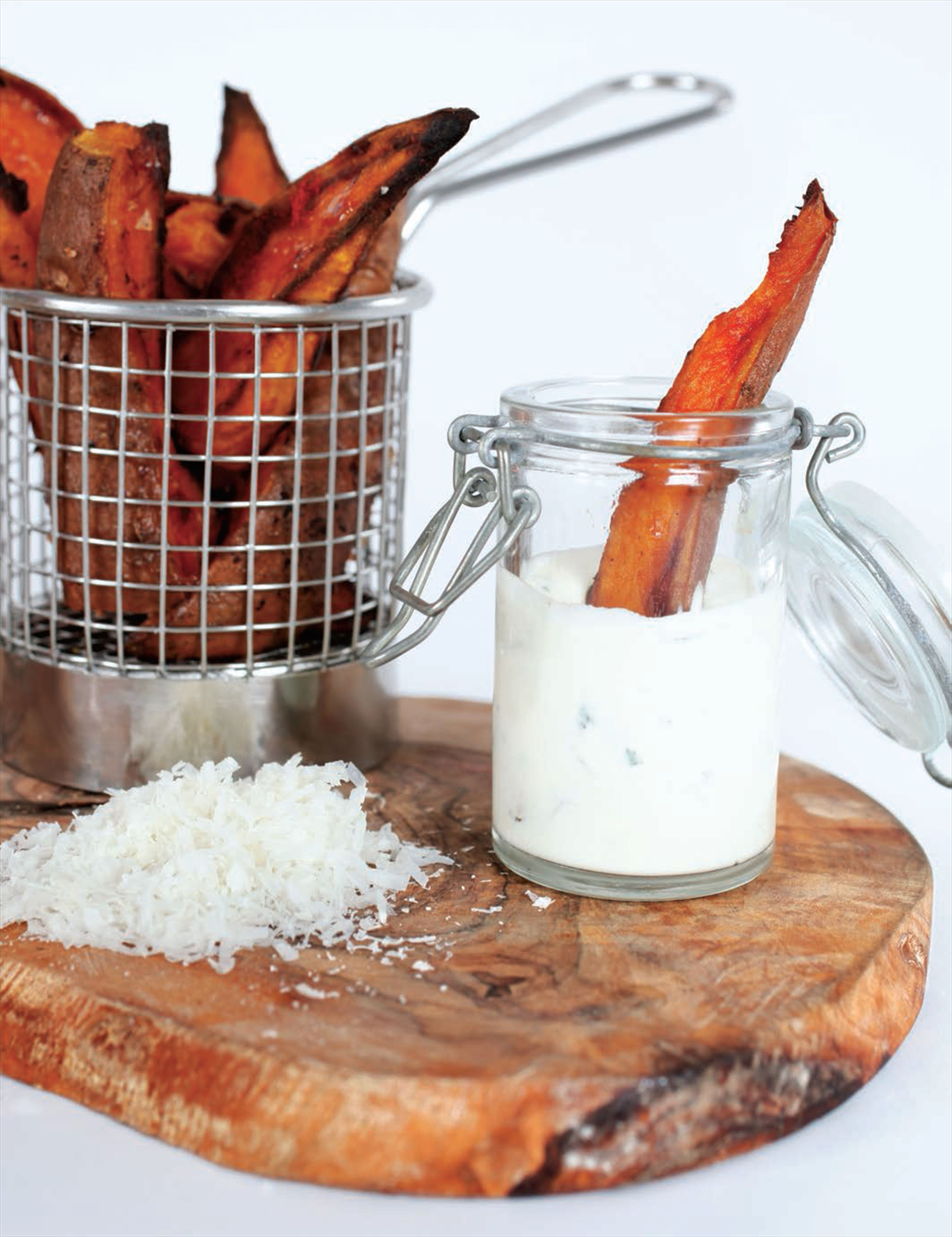 Smokey paprika sweet potato wedges