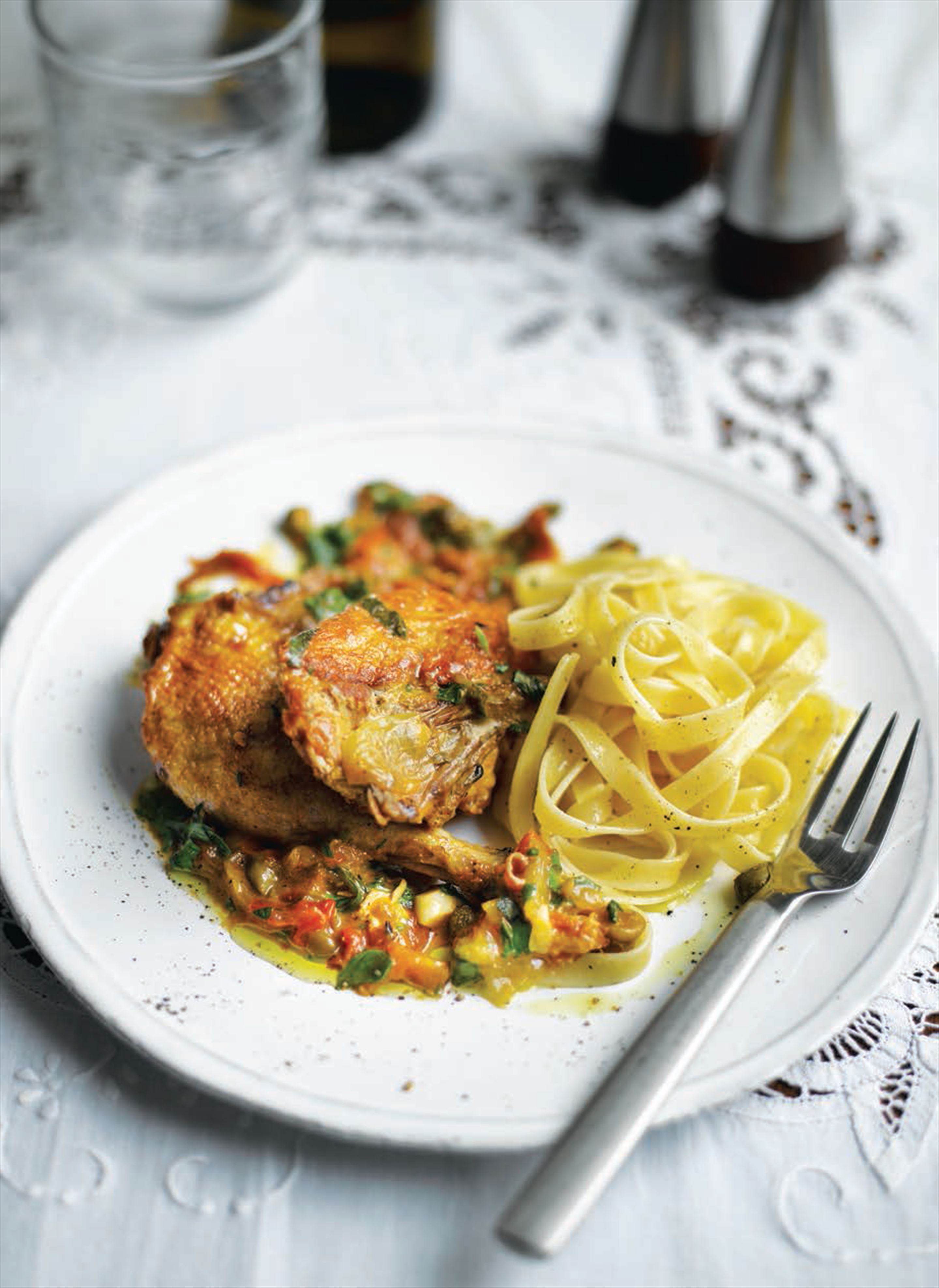 Pheasant with capers and prosciutto