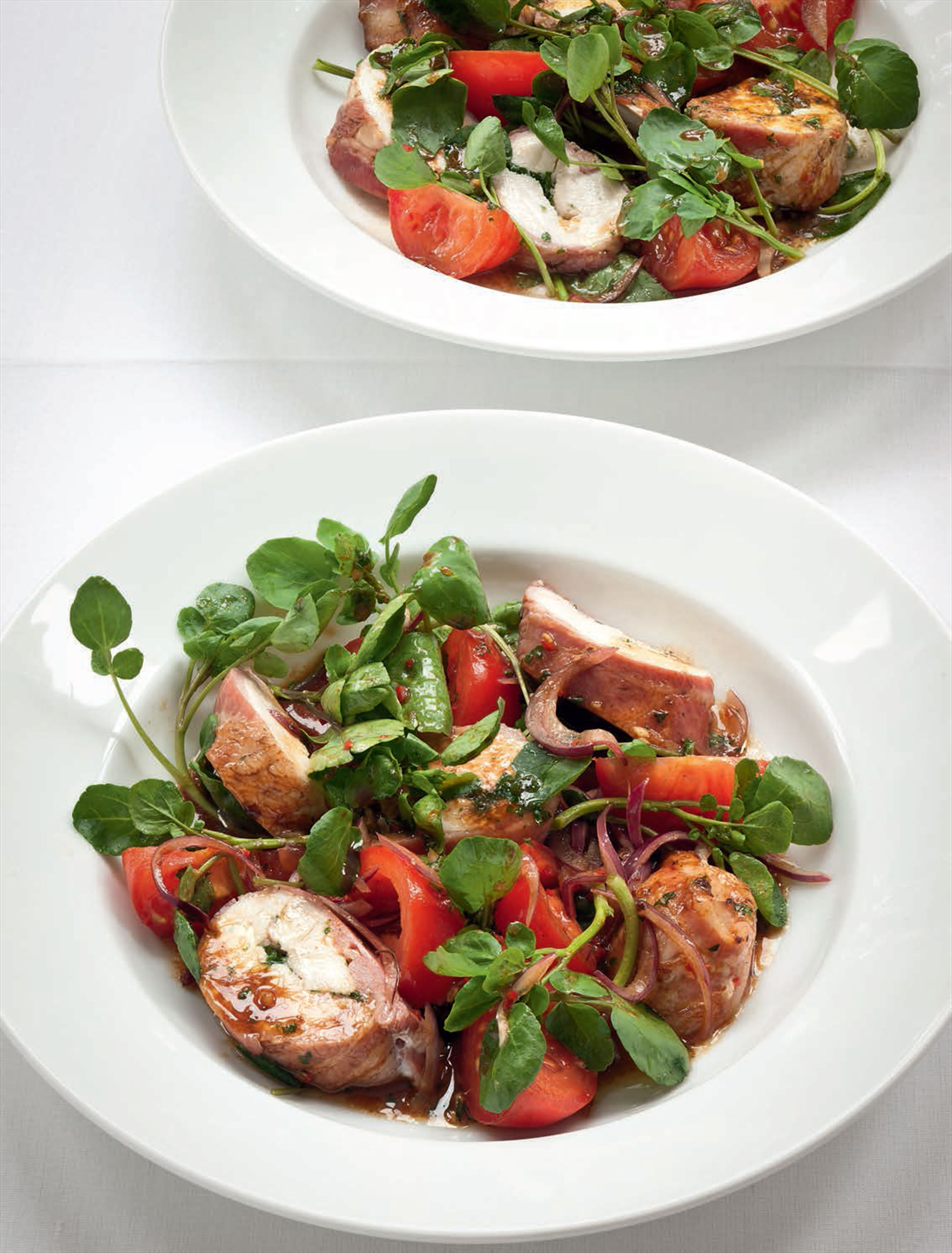 Chicken, bacon, tomato & watercress salad