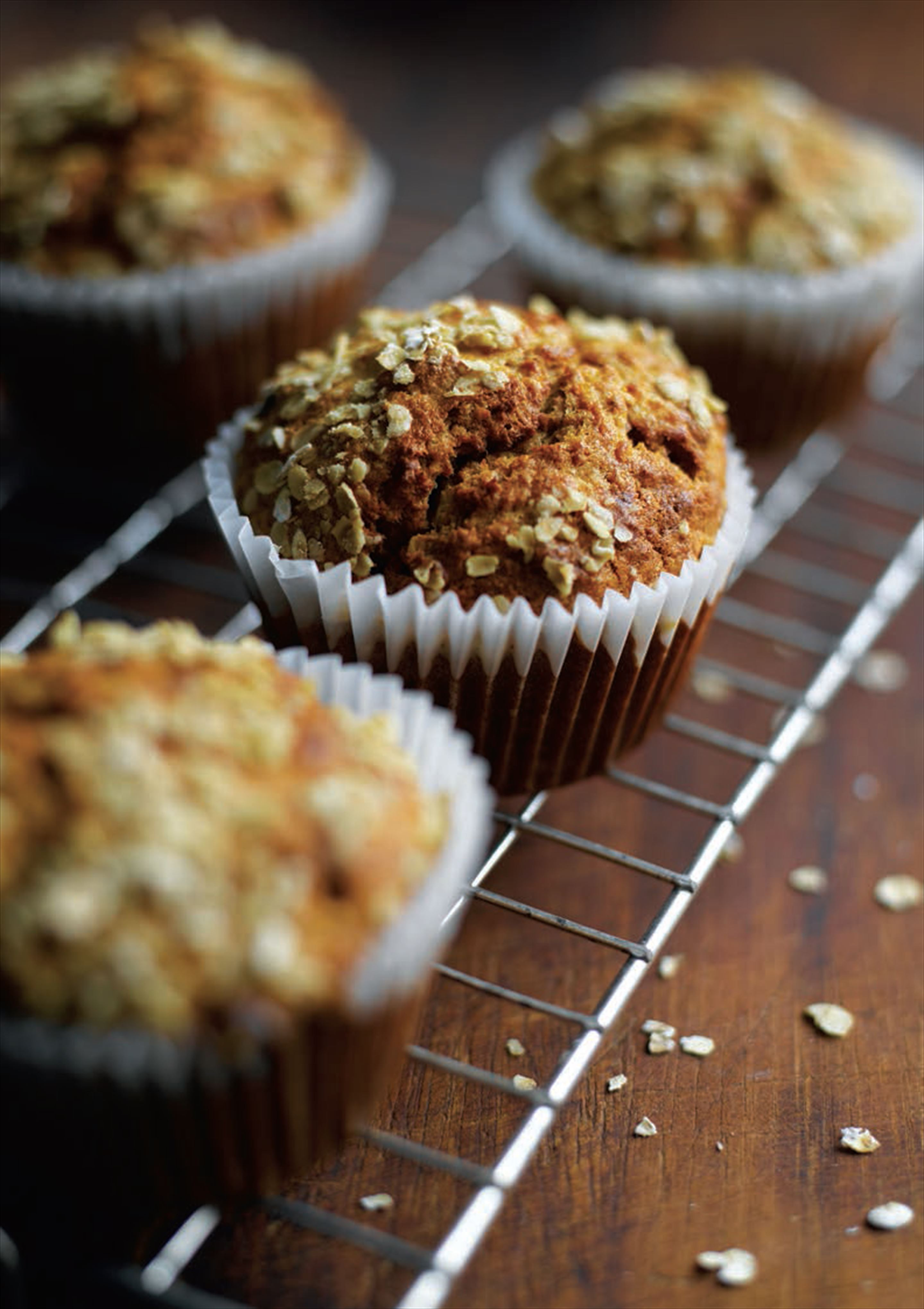 Carrot, oat and cinnamon muffins