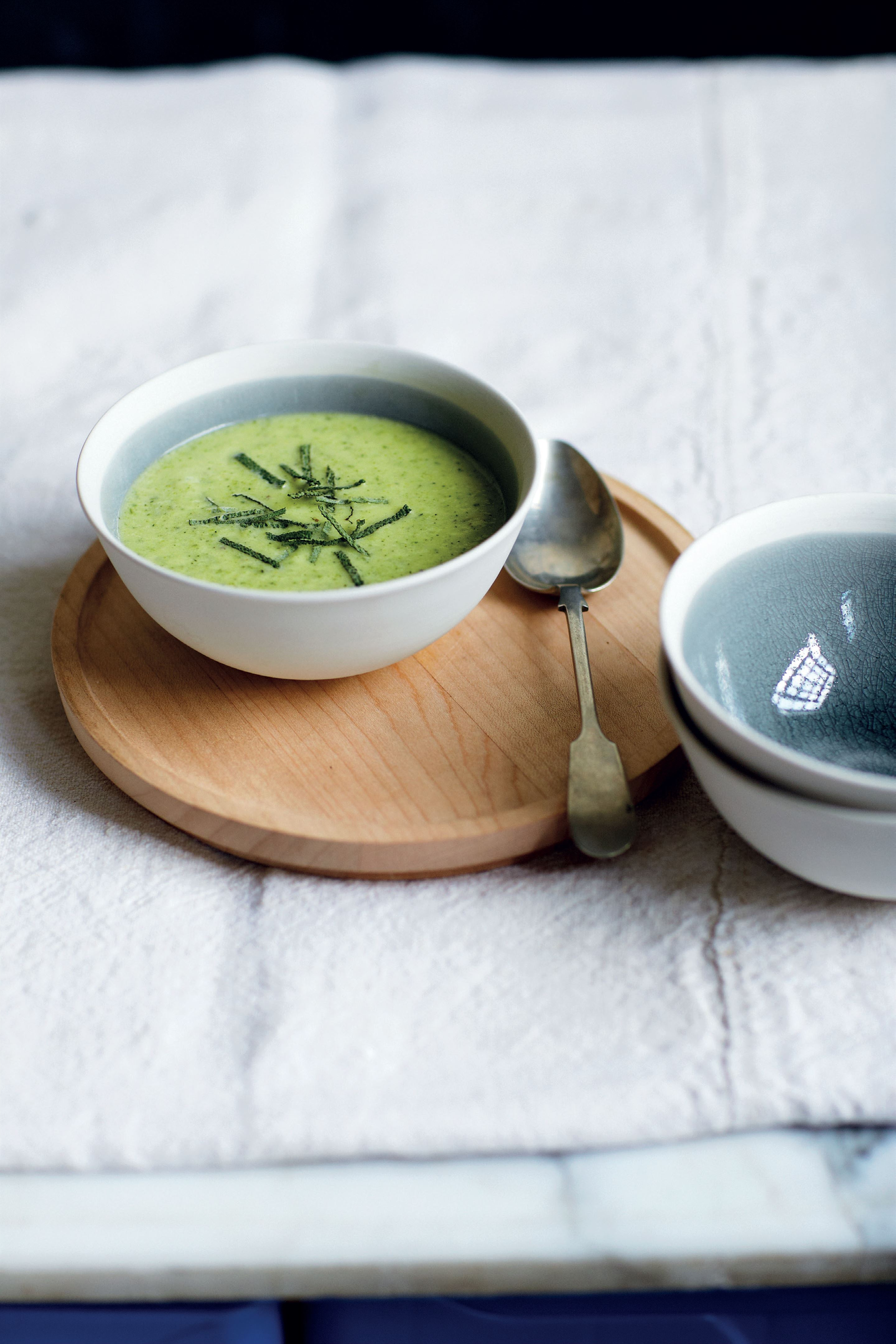 Creamy courgette and sage soup