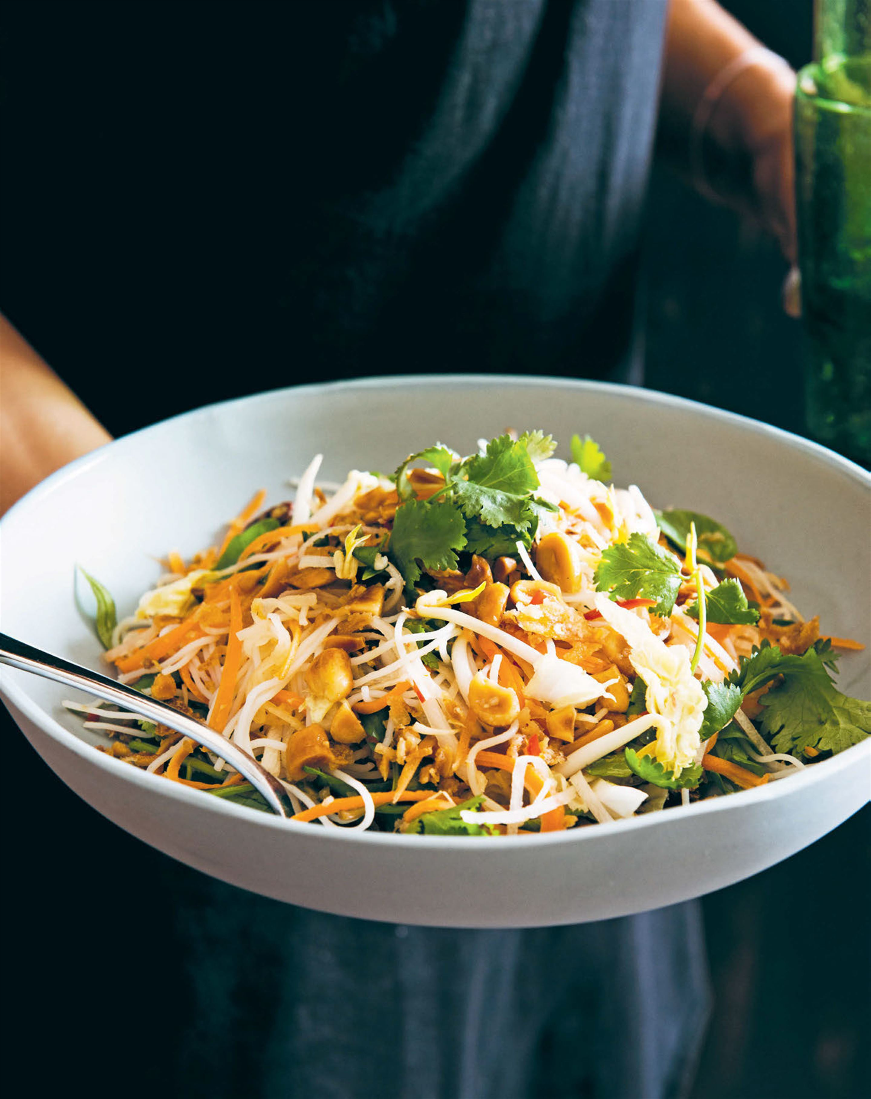 Vermicelli noodle salad with thai chilli dressing