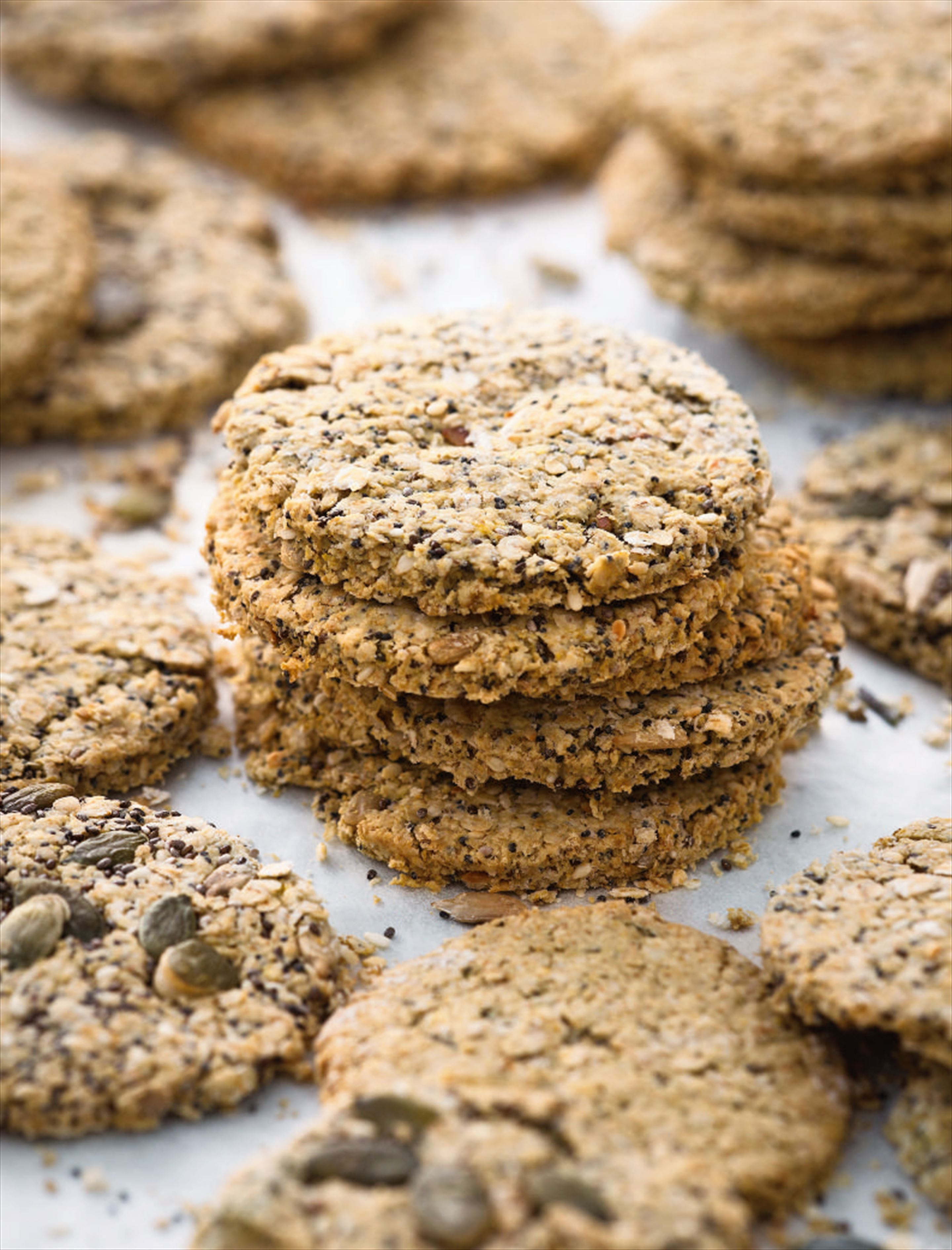 Seeded oatcakes