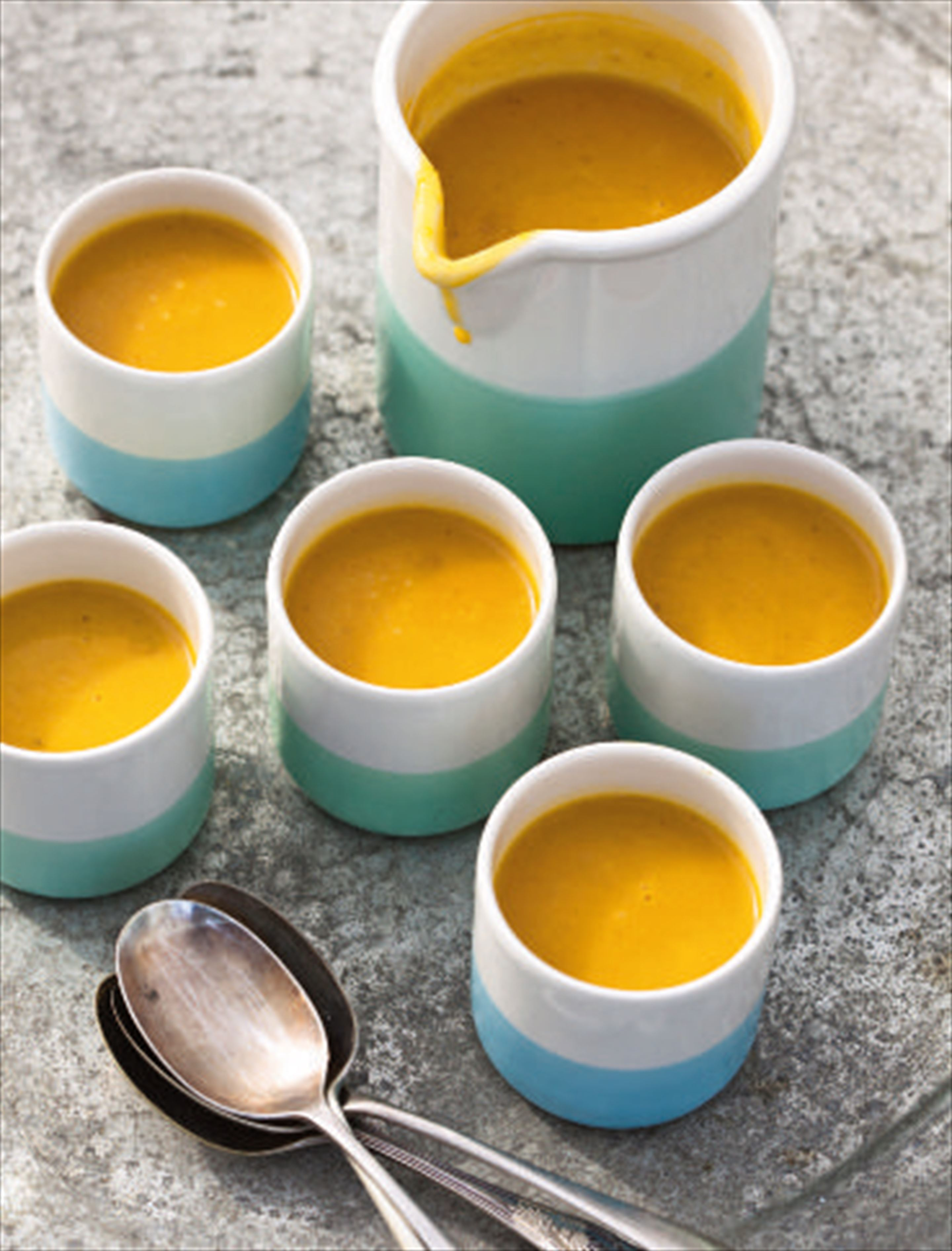 Smoky squash and lemon soup