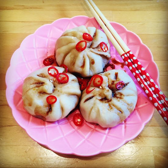 Steamed pumpkin dumplings from scratch