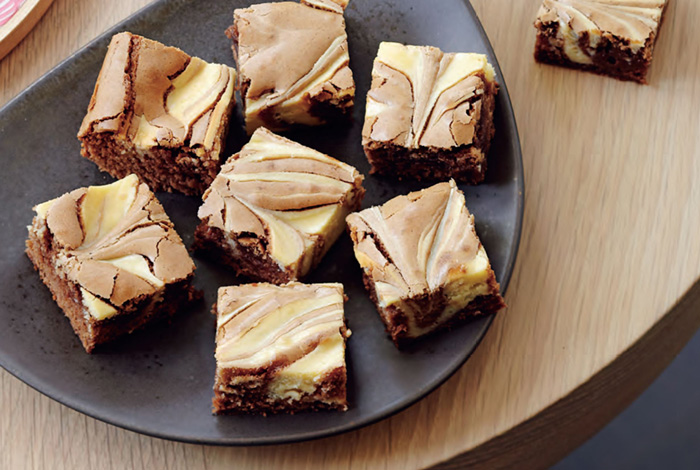 cheese in brownies
