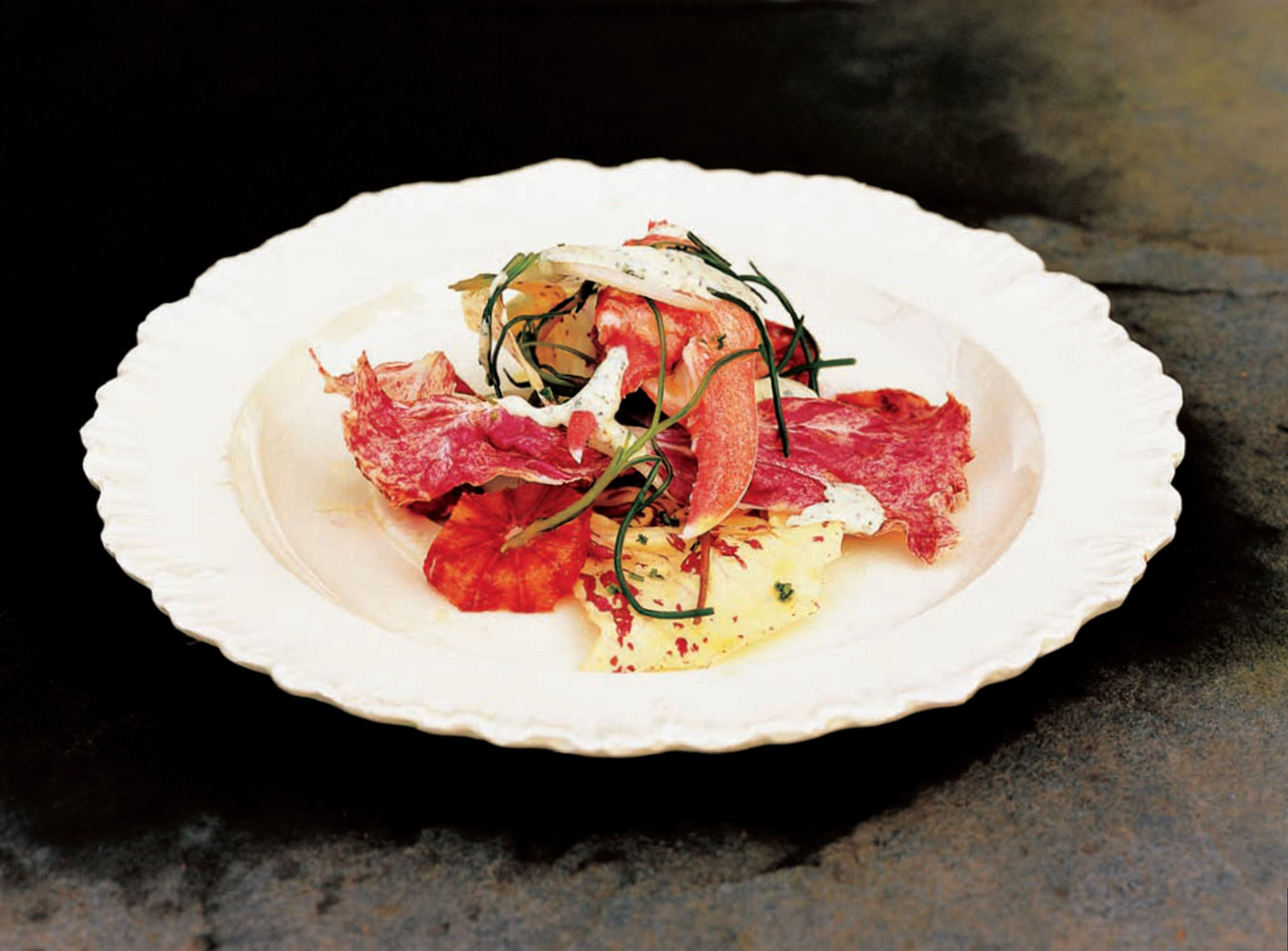 Lobster salad with fennel and blood oranges