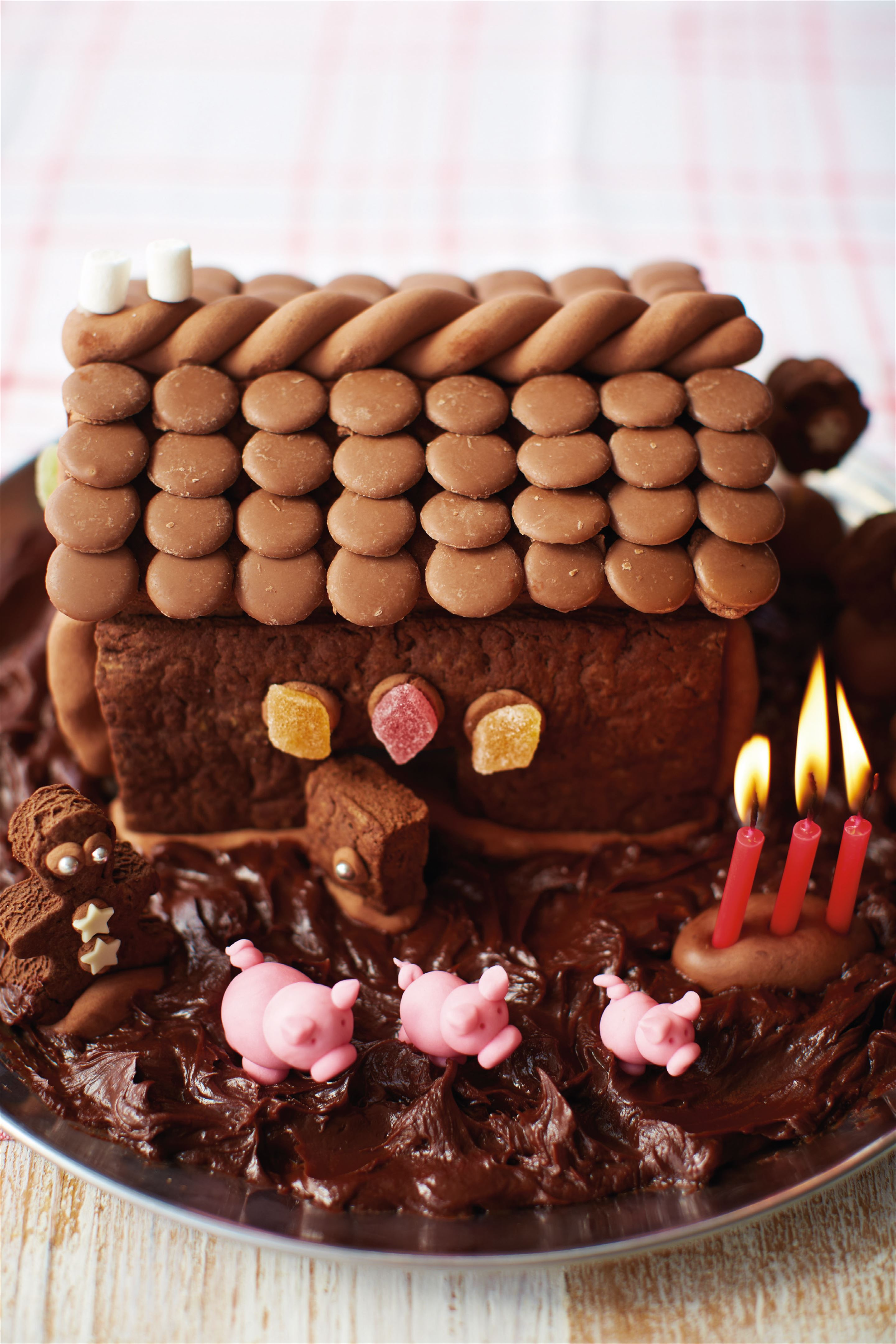 Chocolate gingerbread barn