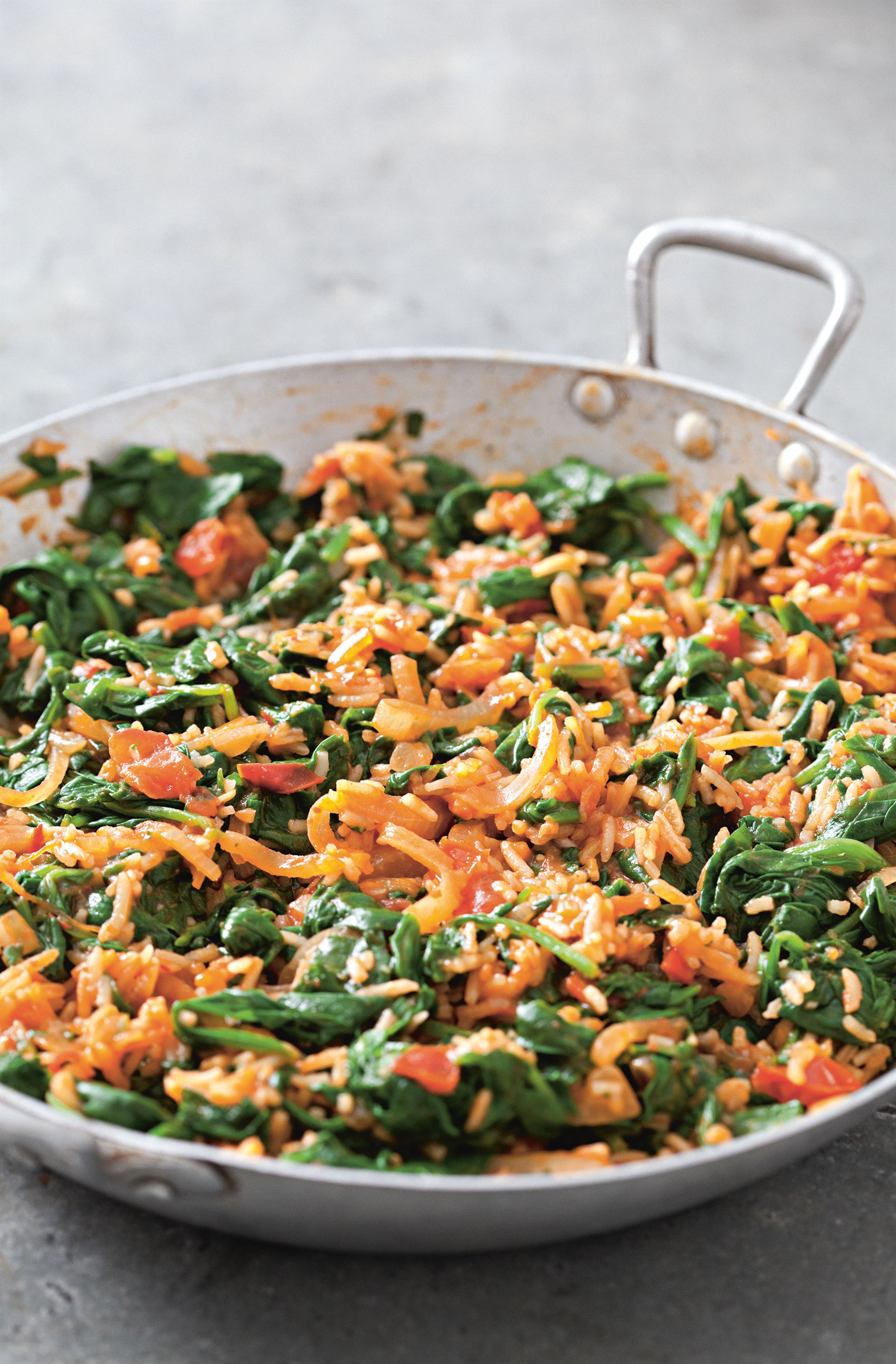 Rice and spinach