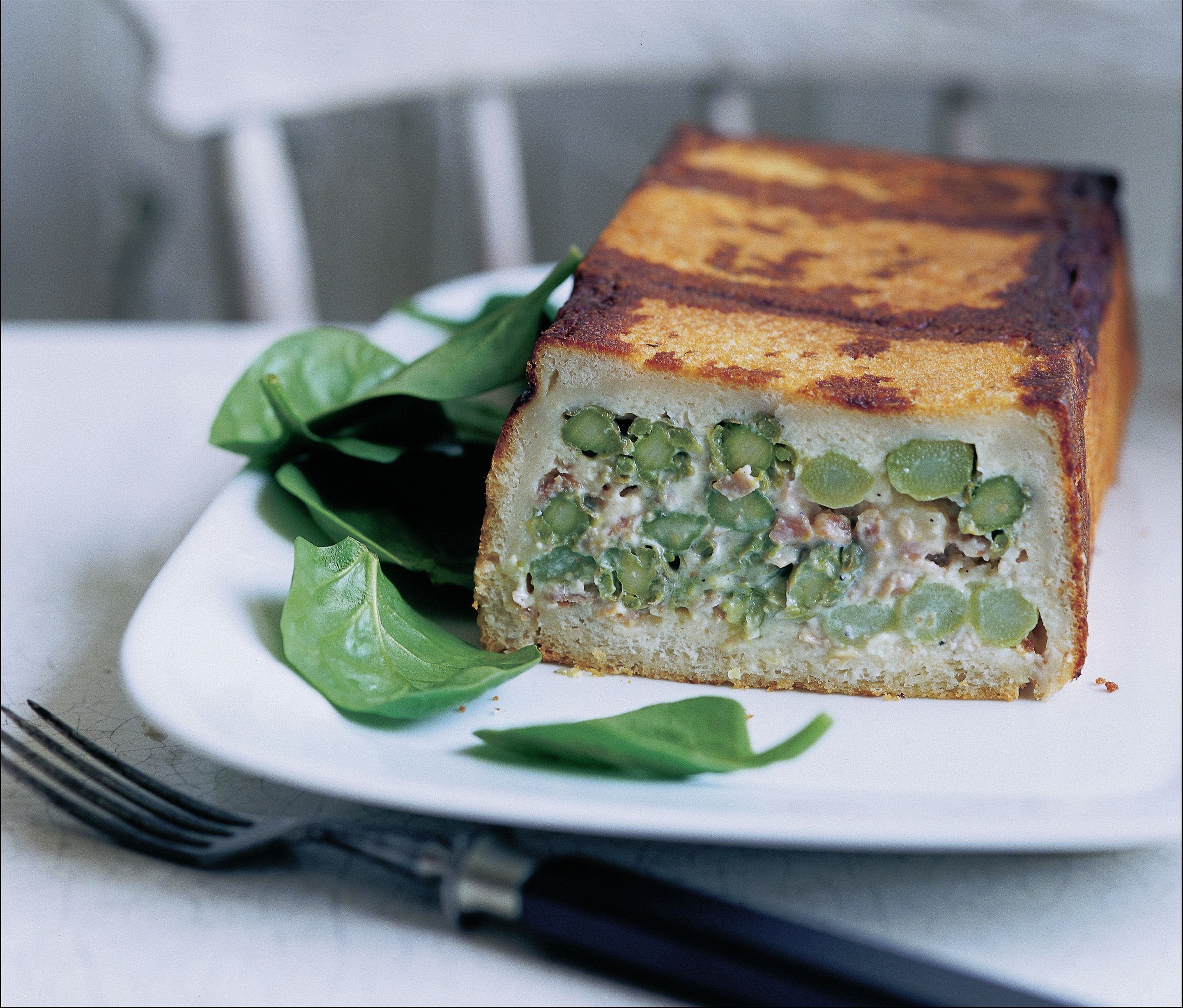 Asparagus timbale