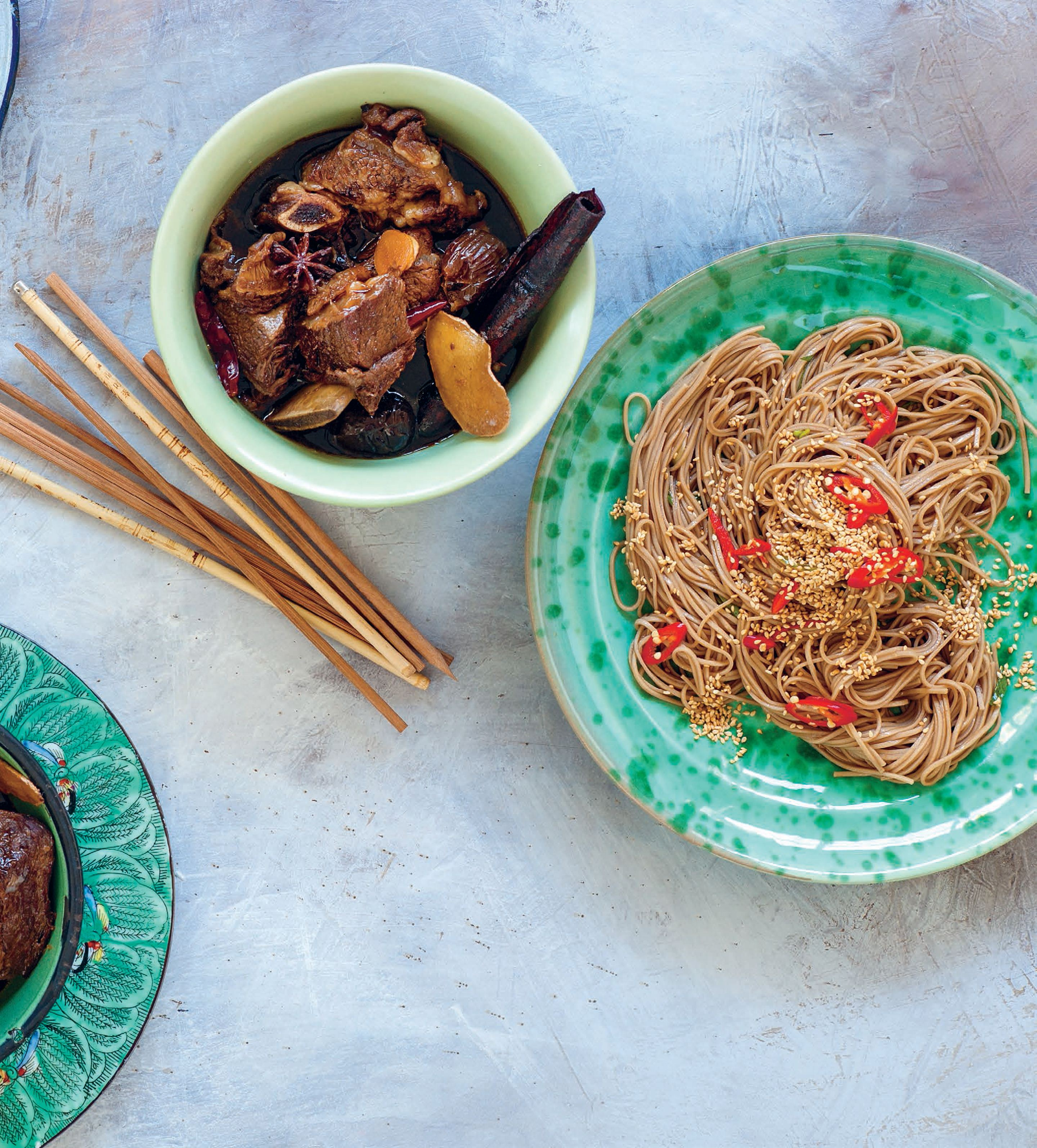 Spicy buckwheat noodles