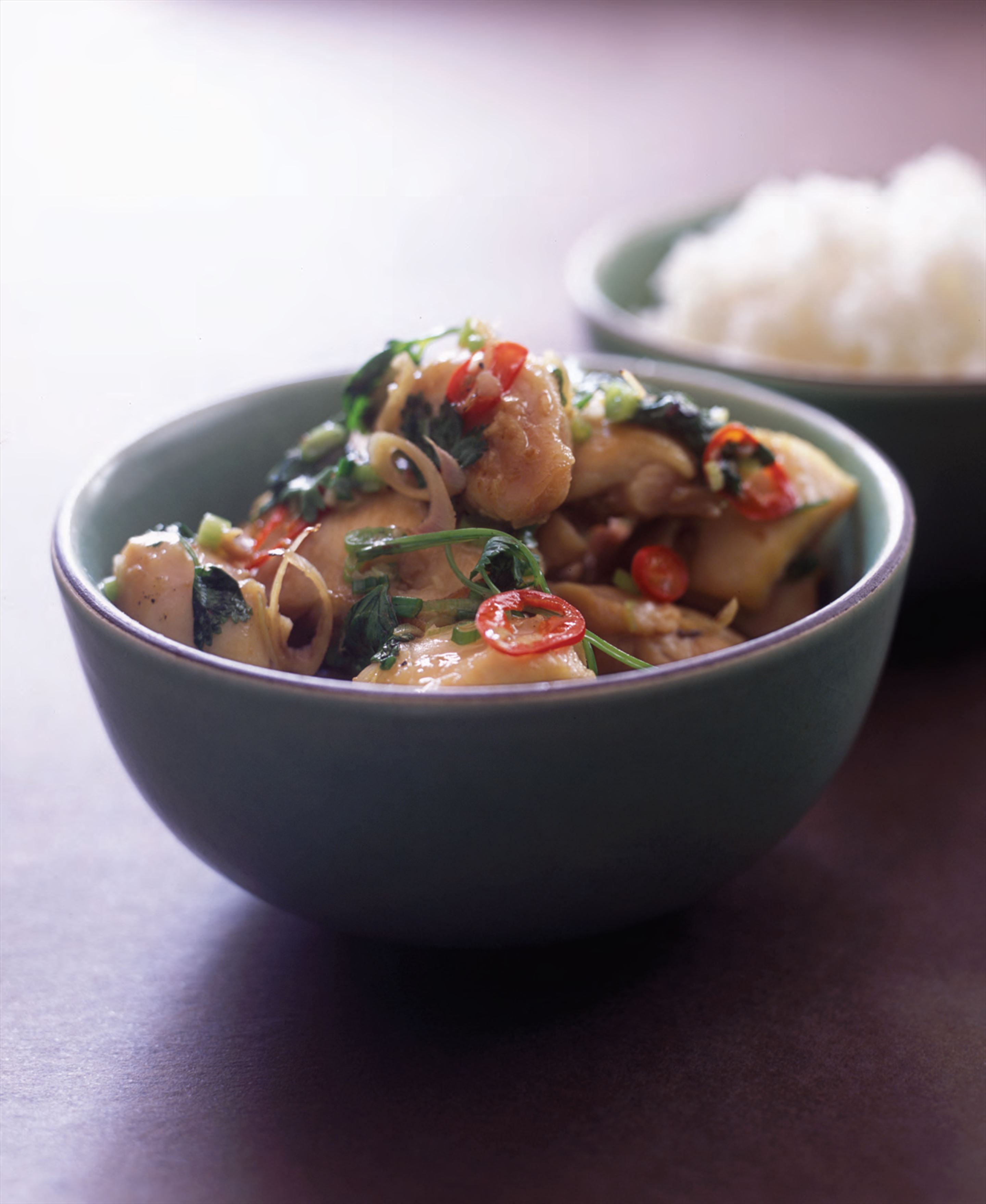 Chicken with lemongrass and chilli