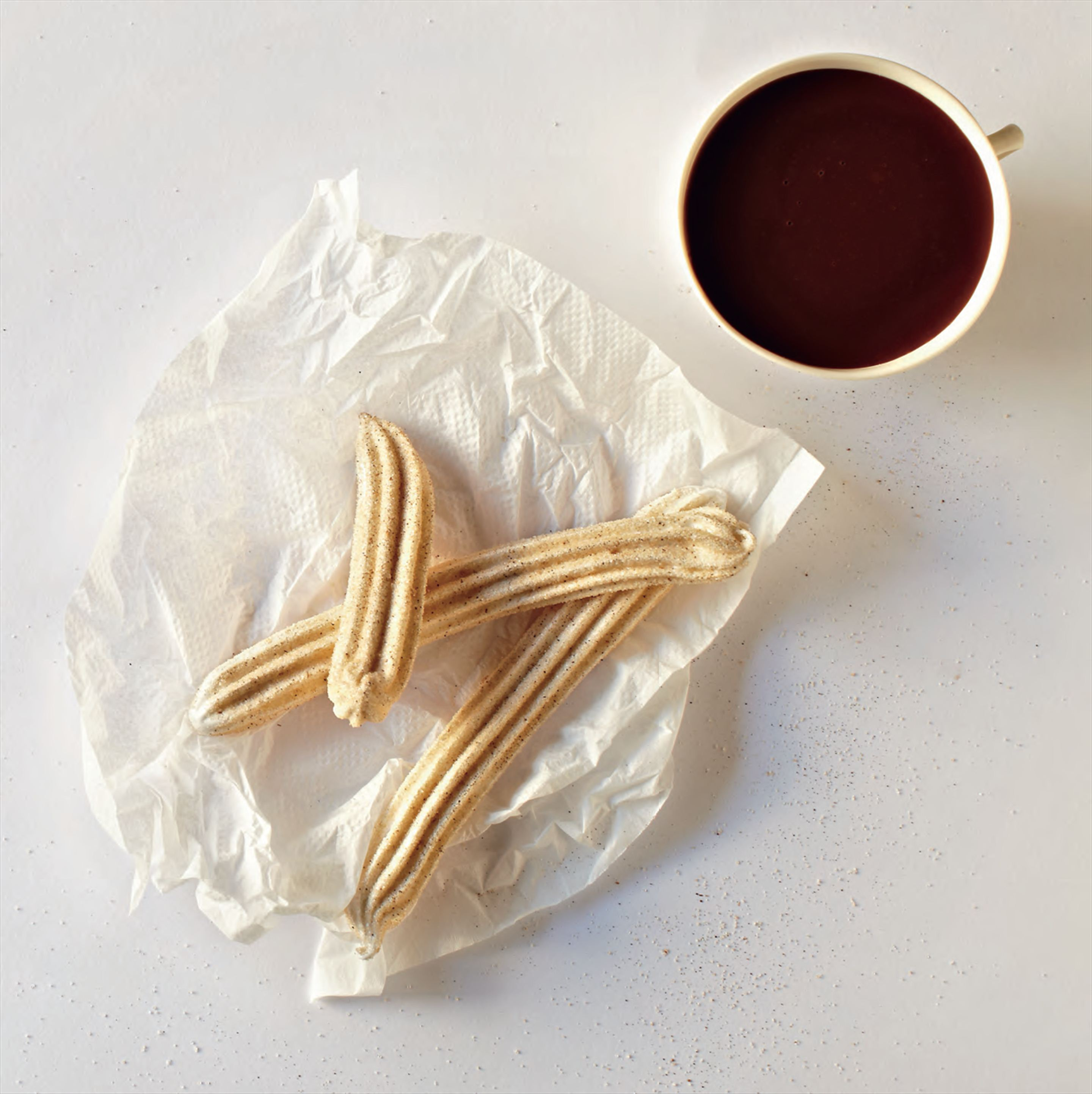 Wicked hot chocolate with churros-style marshmallows