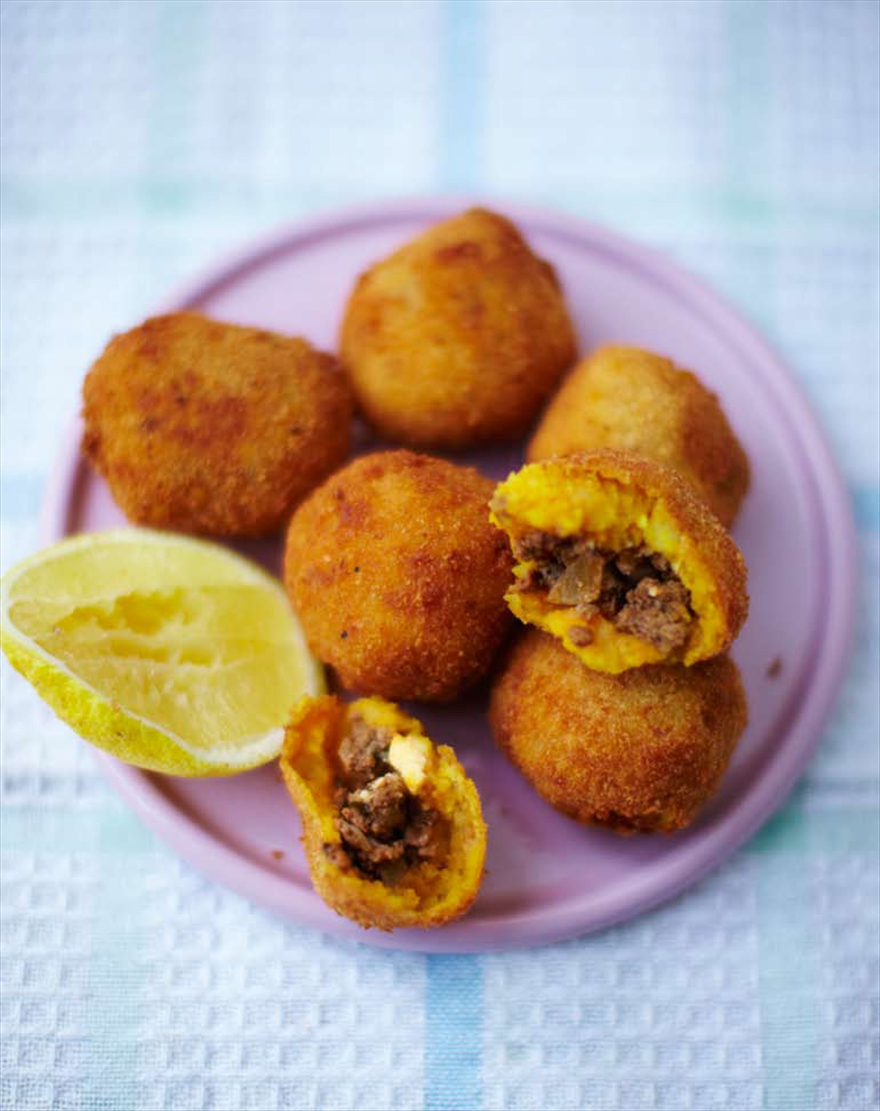 Stuffed potato croquettes