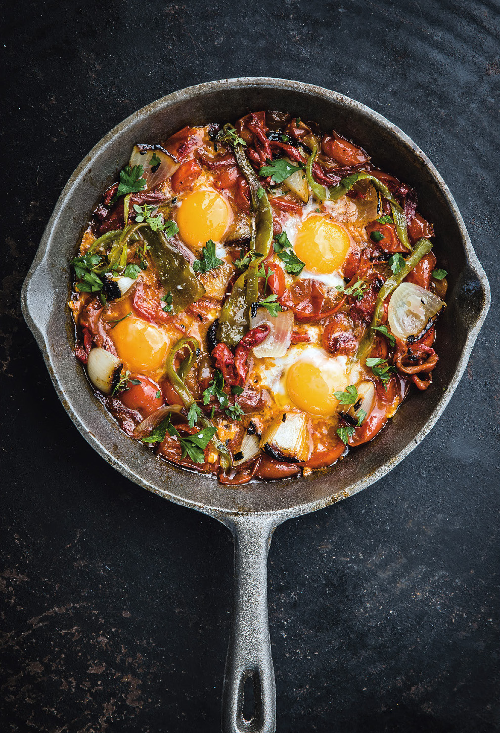 Piperade, eggs