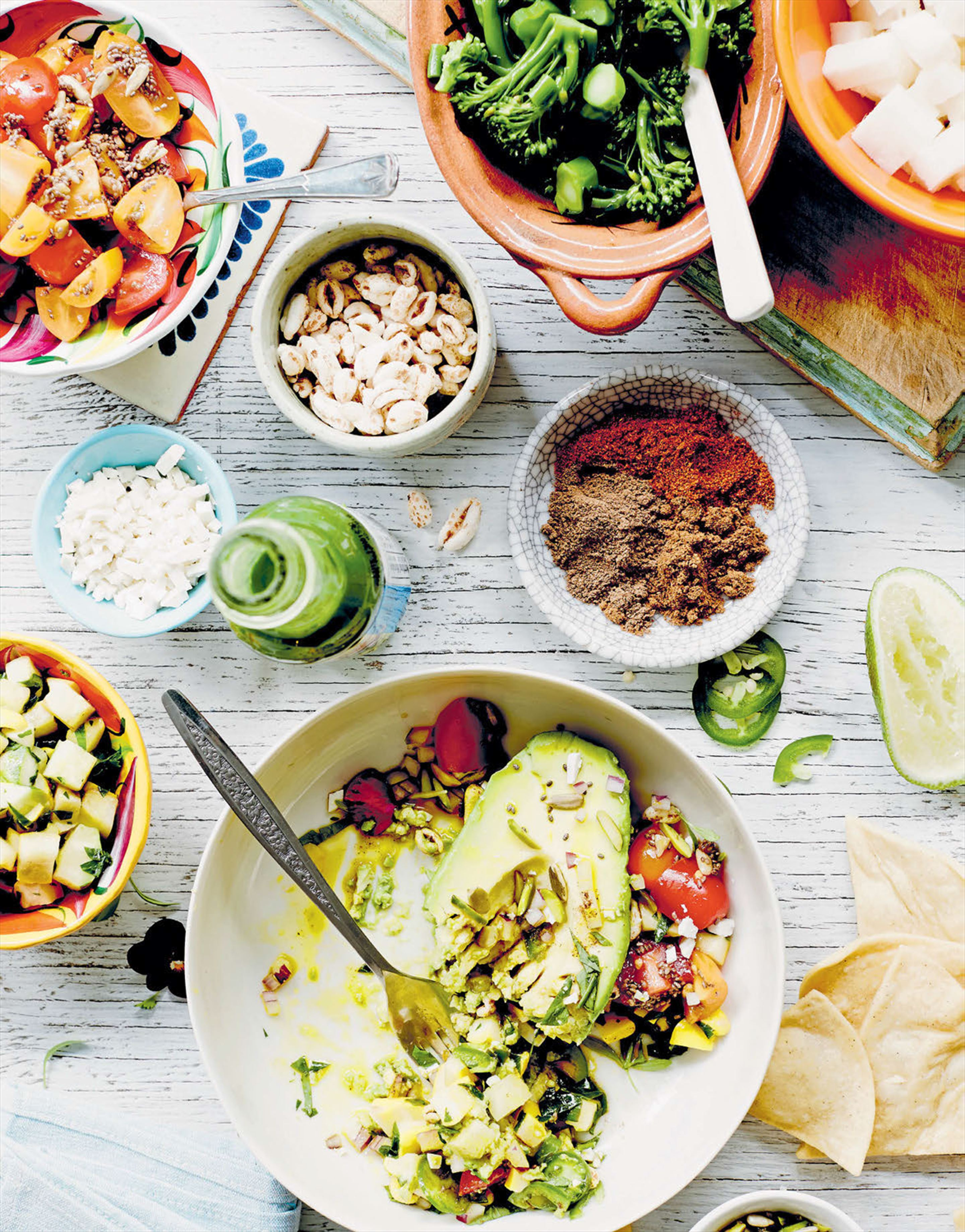 Table-side guacamole with super grains