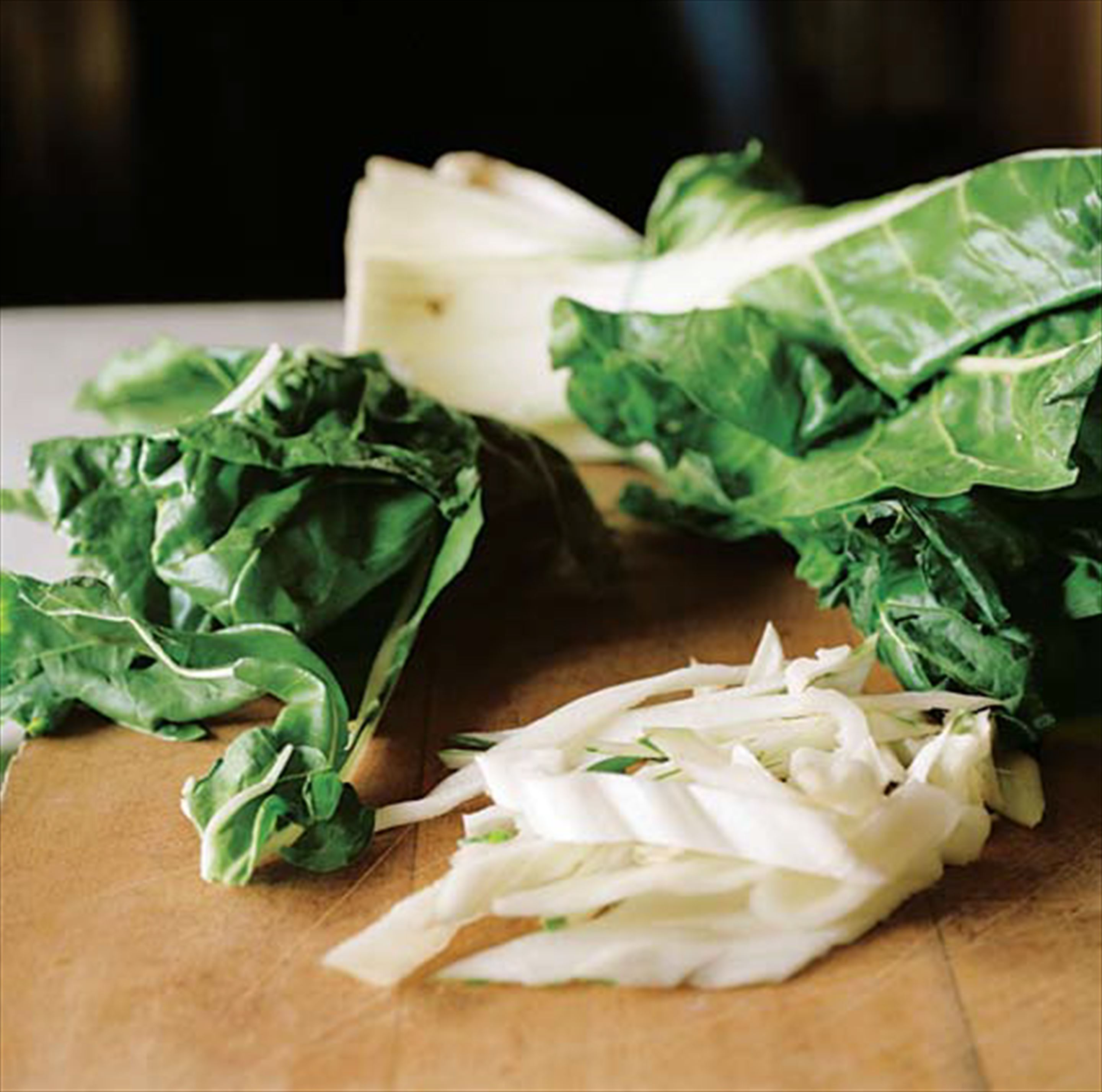Slow-cooked chard