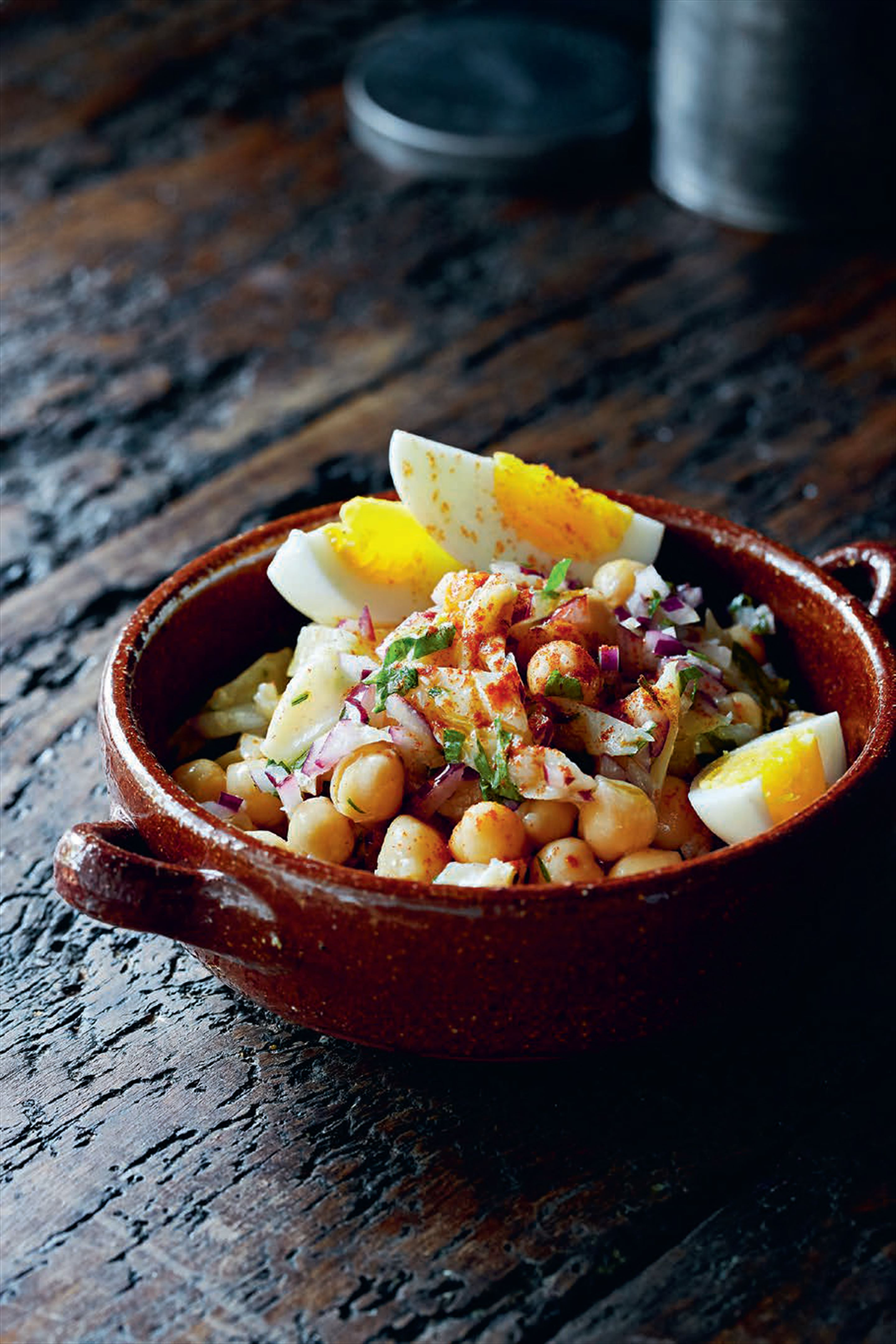 Salt cod & chickpea salad