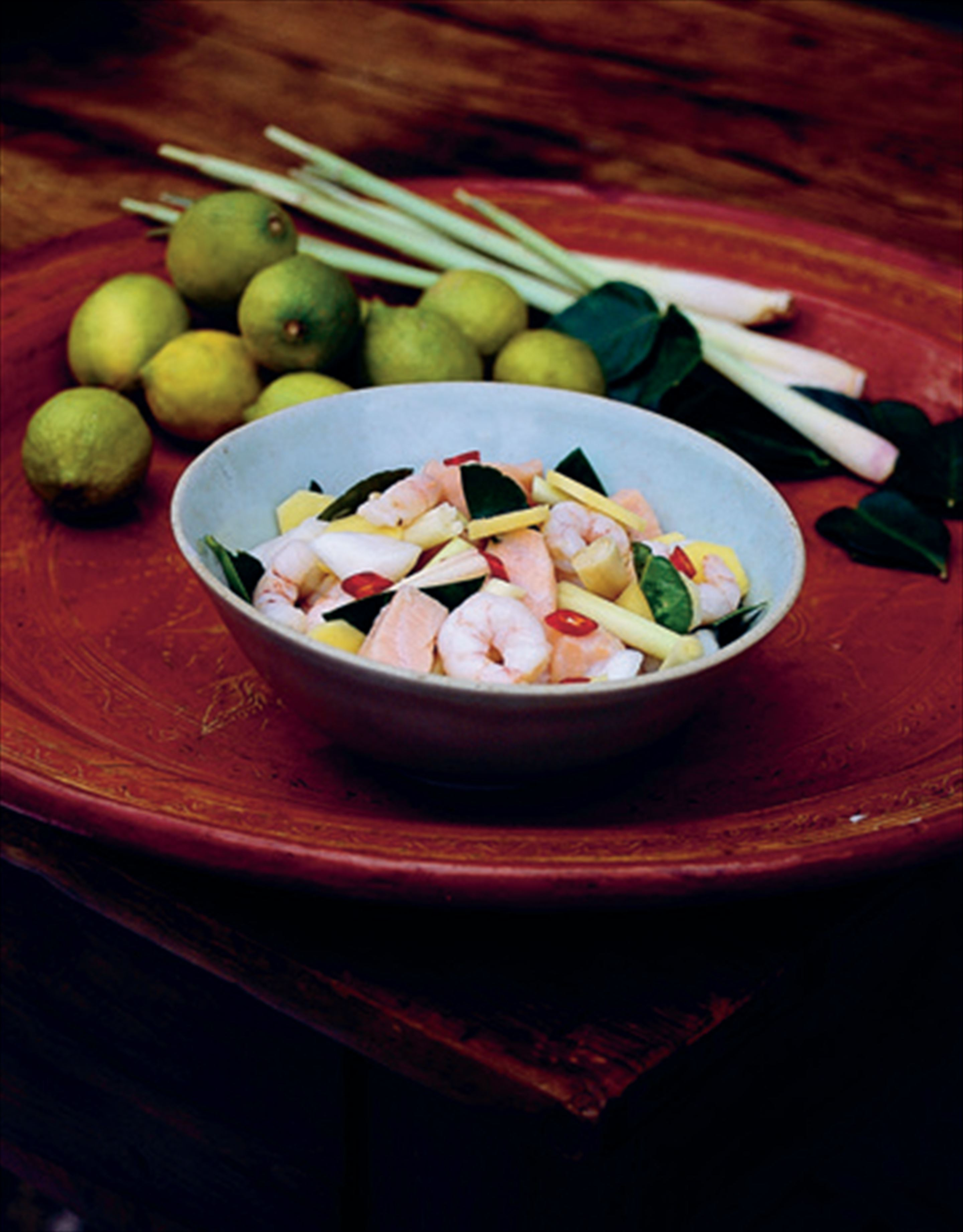 Ginger and lime ceviche