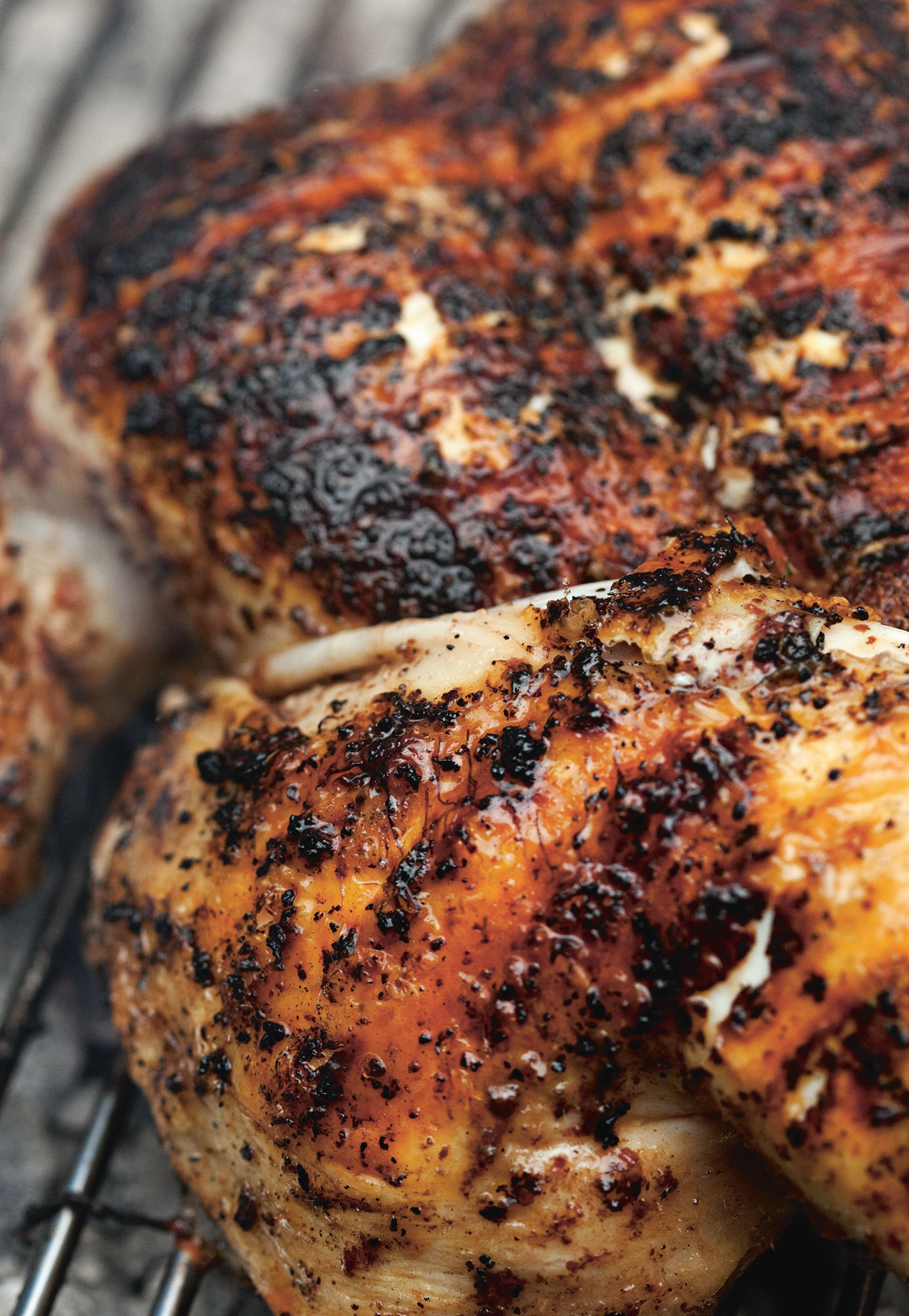 Barbecued chicken with sumac